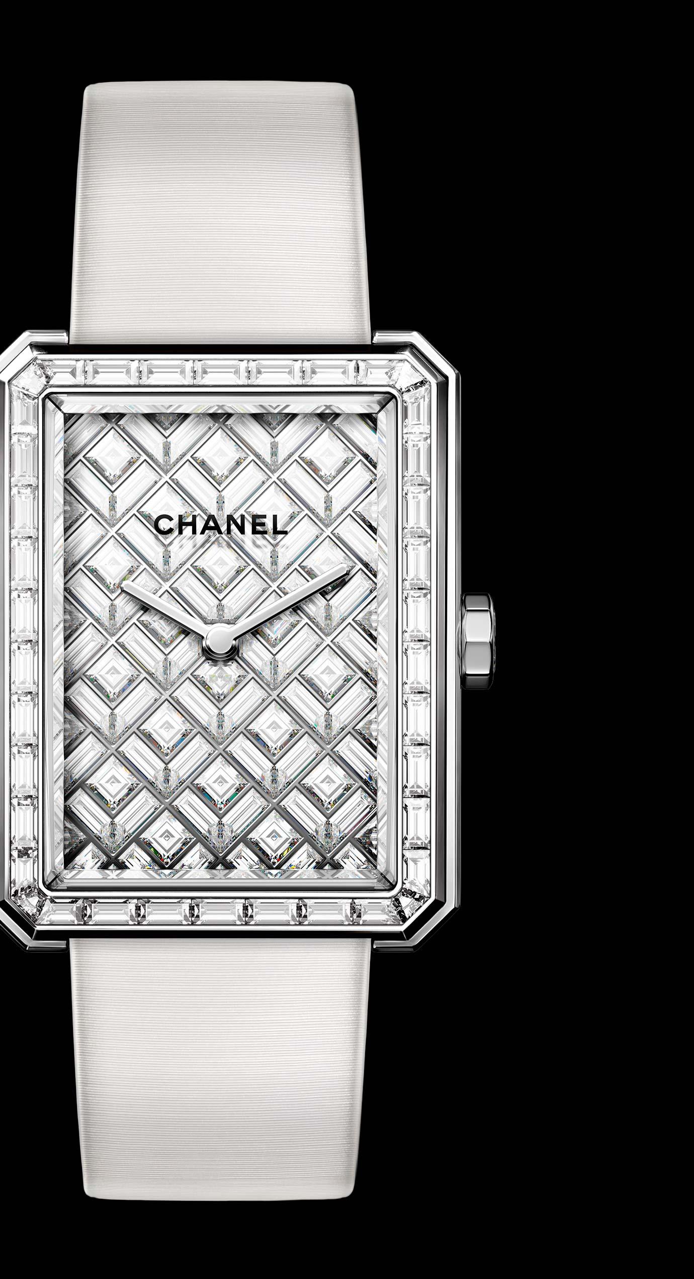 Часы BOY·FRIEND ARTY DIAMONDS из белого золота 18 карат с бриллиантами. - Увеличенный вид