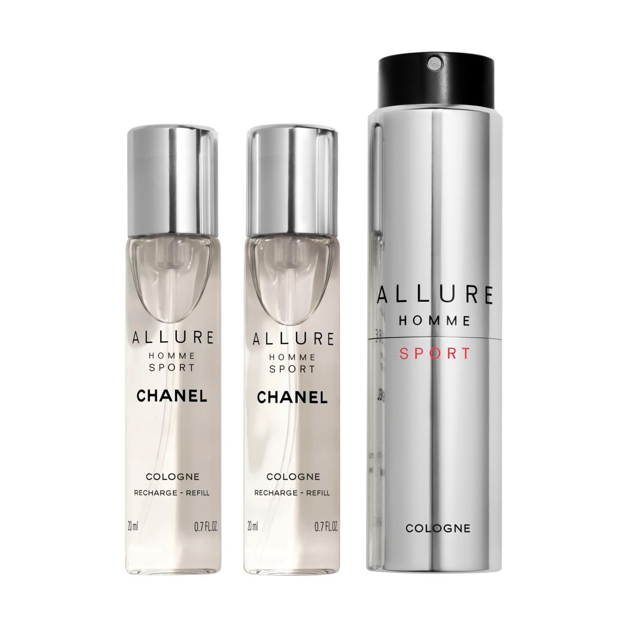 ALLURE HOMME SPORT COLOGNE NACHFÜLLBARES TRAVEL SPRAY
