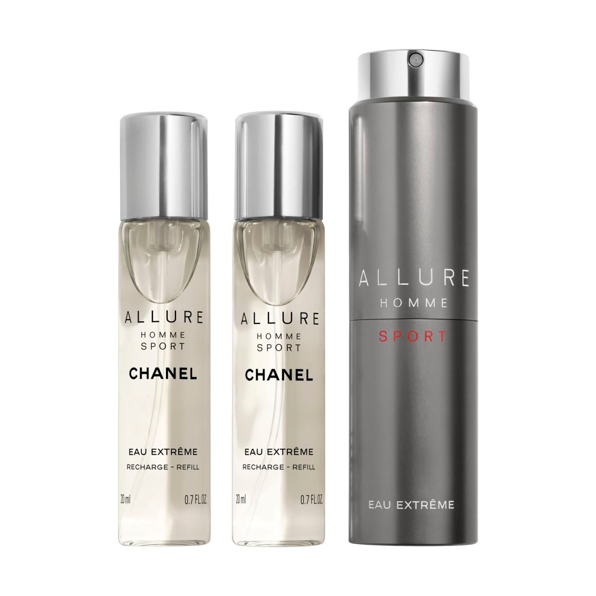 ALLURE HOMME SPORT EAU EXTRÊME REFILLABLE TRAVEL SPRAY 3x20ml