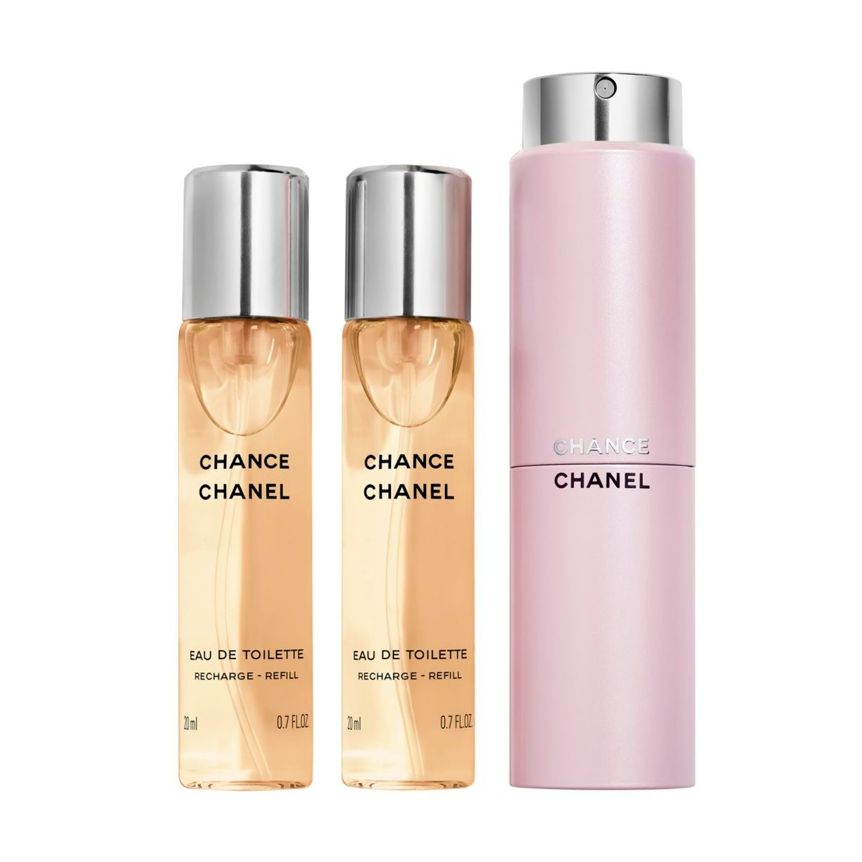 CHANCE EAU DE TOILETTE TWIST AND SPRAY 3 x 20ml
