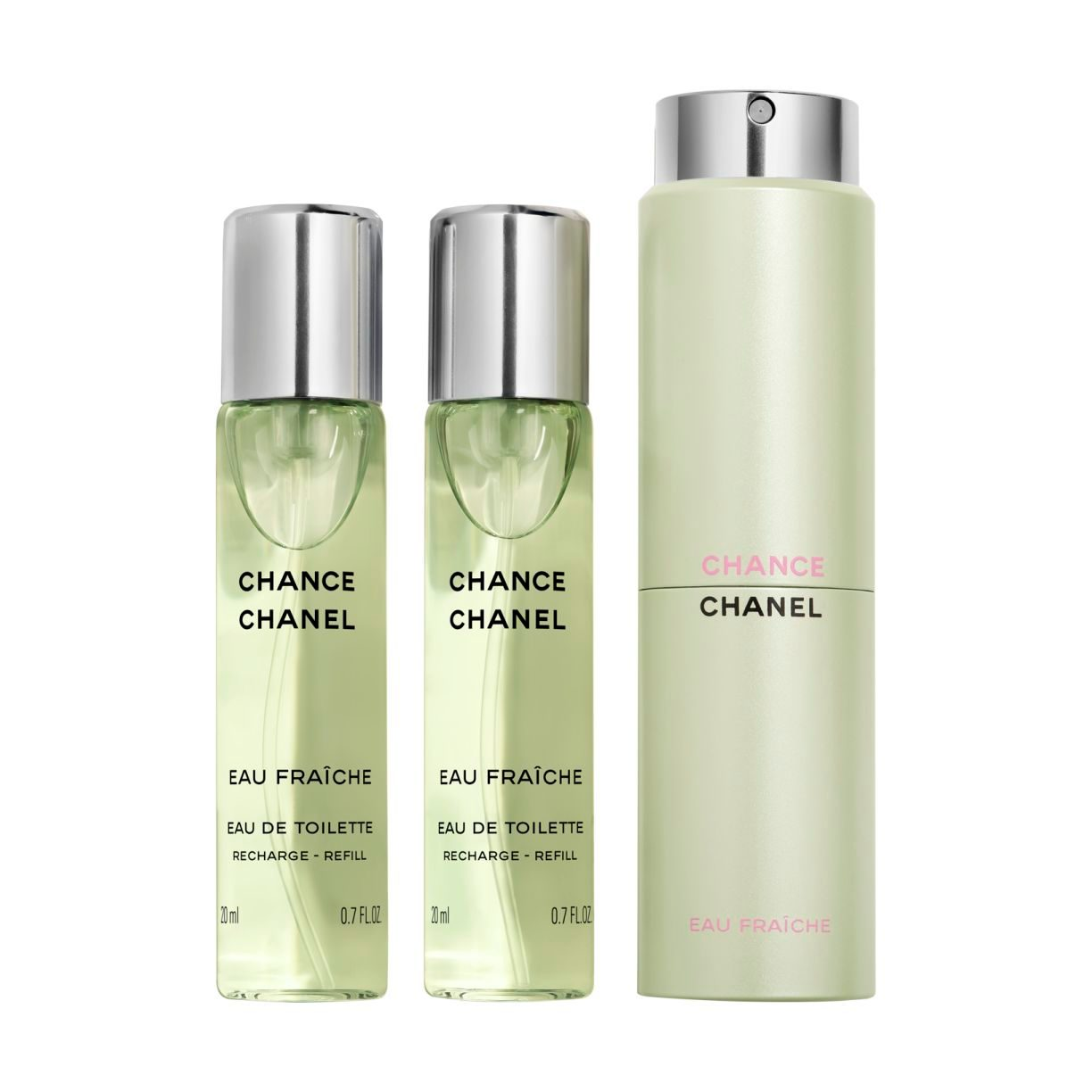 CHANCE EAU FRAÎCHE WODA TOALETOWA TWIST AND SPRAY 3 x 20ml
