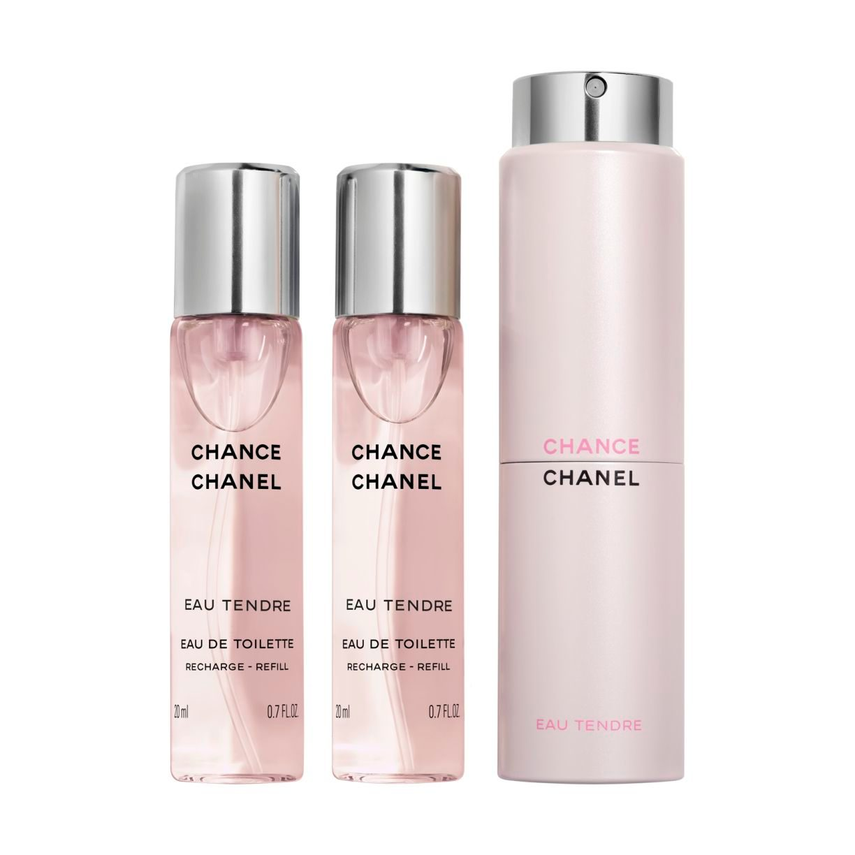 CHANCE EAU TENDRE EAU DE TOILETTE TWIST AND SPRAY 3 x 20ml