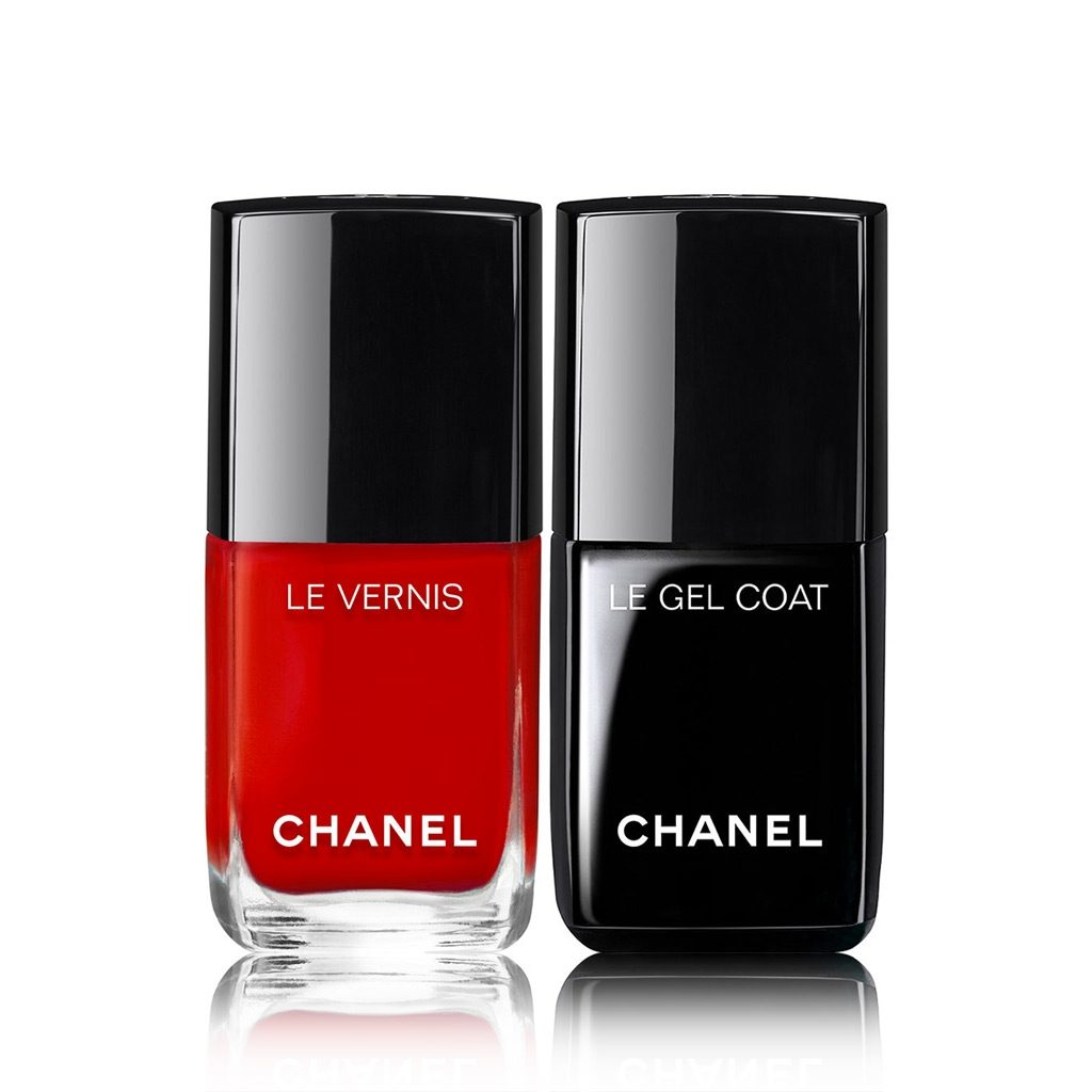 LE DUO VERNIS LONGUE TENUE Nail polish and gel coat duo. 500 - ROUGE ESSENTIEL