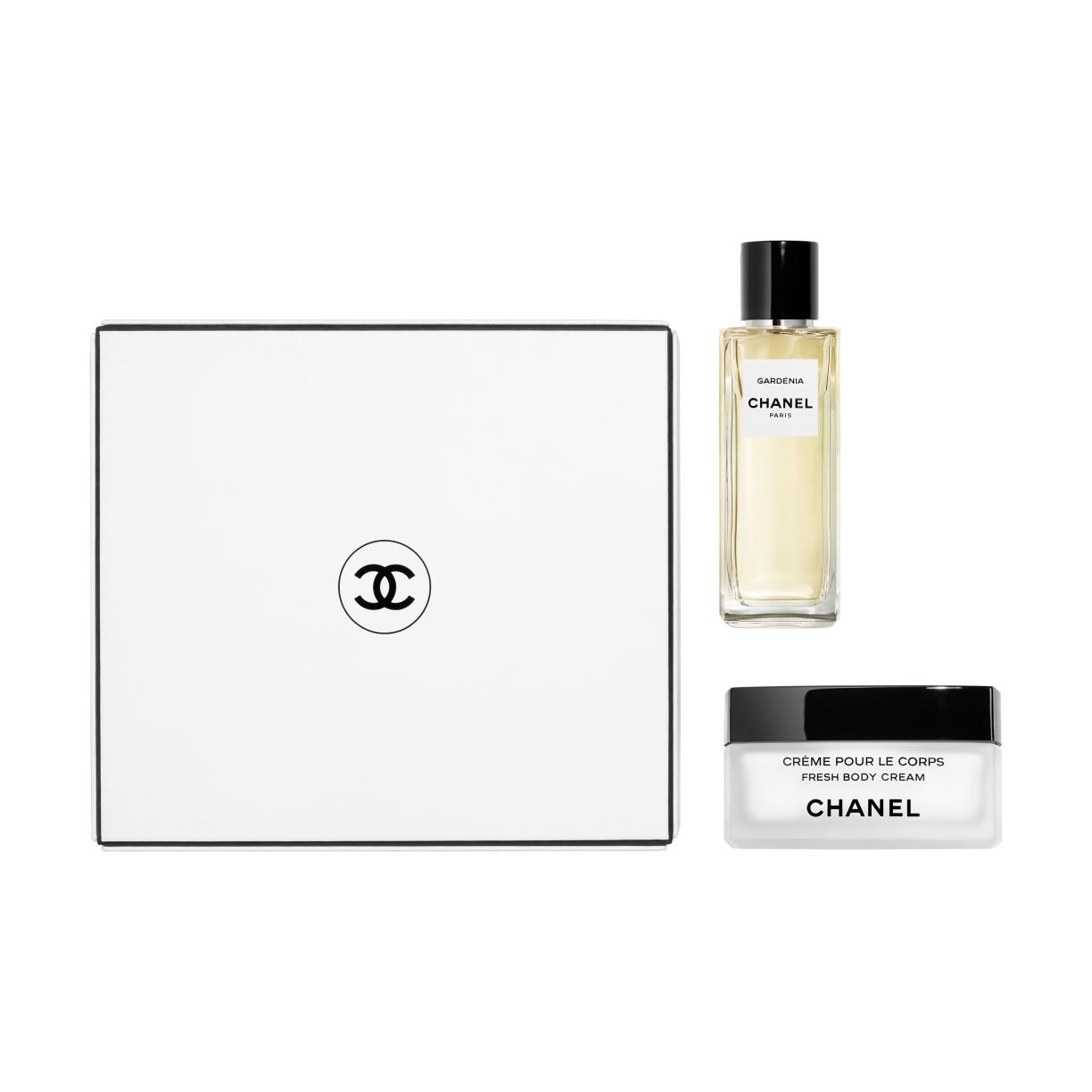 LES EXCLUSIFS DE CHANEL GARDÉNIA EAU DE PARFUM 75 ML AND FRESH BODY CREAM COFFRET