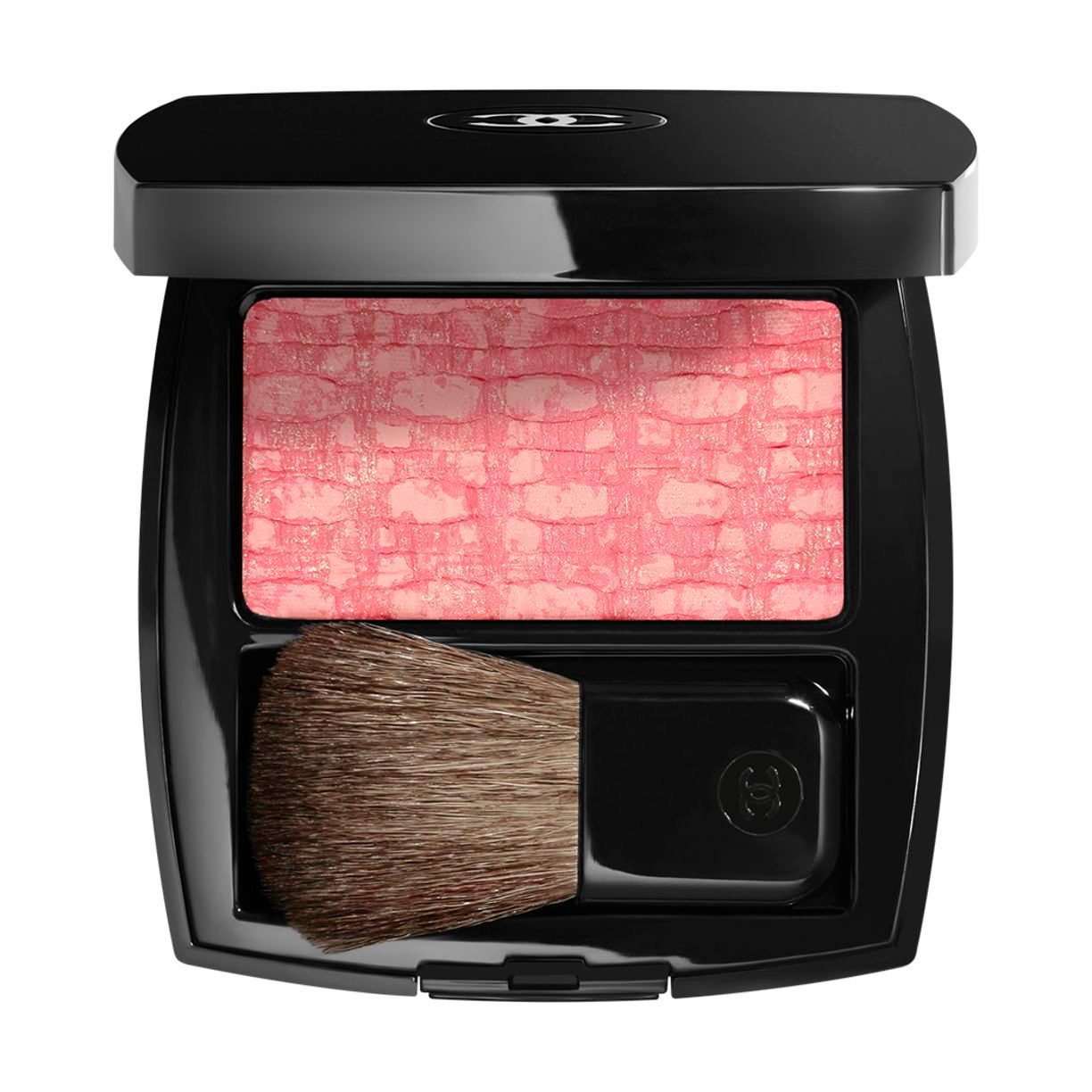 LES TISSAGES DE CHANEL DUO BLUSH MET TWEEDRELIËF 130 - TWEED EVANESCENT