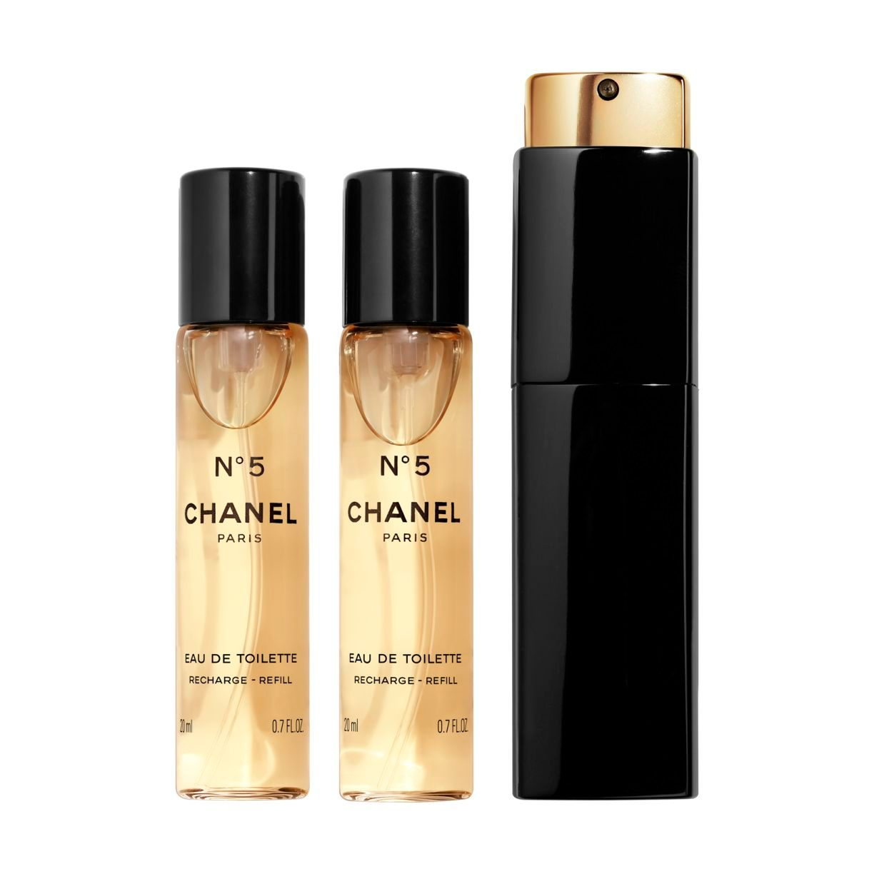 N°5 EAU DE TOILETTE PURSE SPRAY 3x20ml