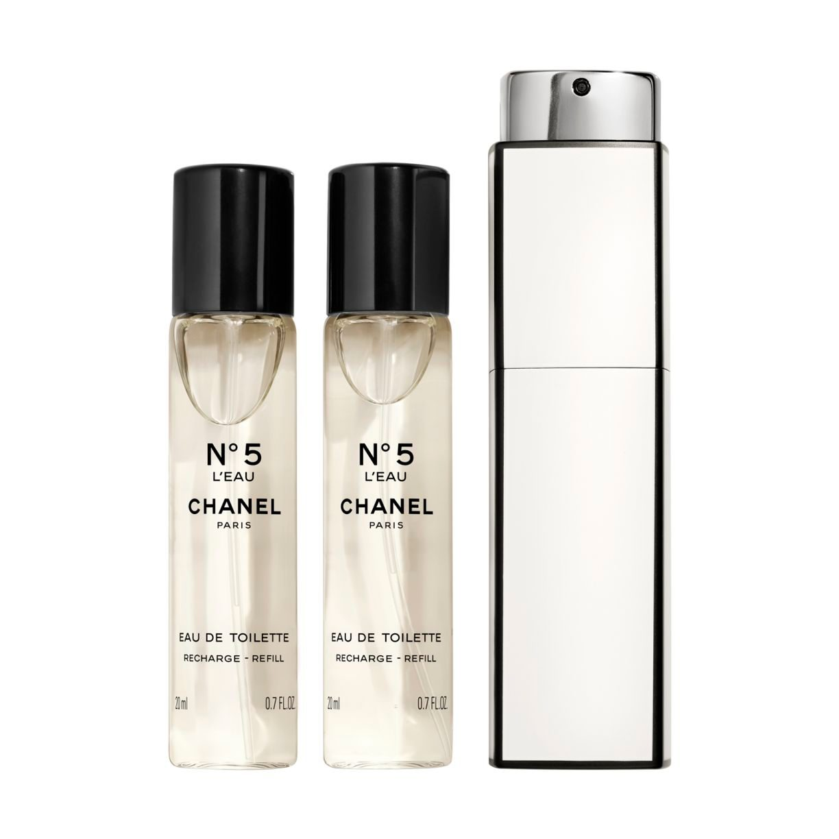 N°5 L'EAU N°5 L'EAU PURSE SPRAY − SPRAY DO TOREBKI 3 x 20ml