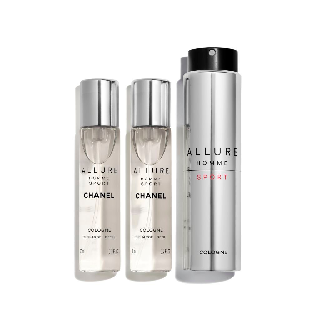 ALLURE HOMME SPORT COLOGNE REFILLABLE TRAVEL SPRAY 3x20ml