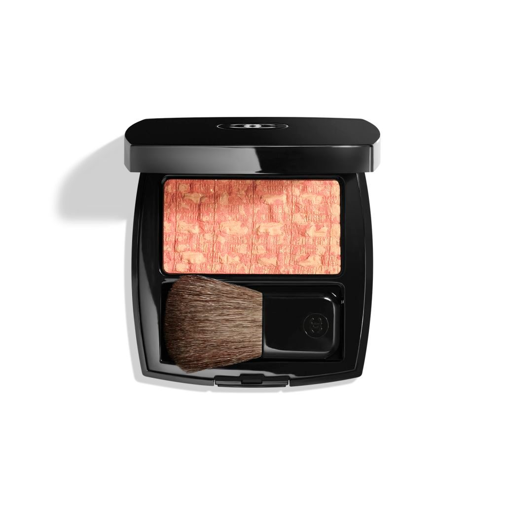 LES TISSAGES DE CHANEL DUO BLUSH MET TWEEDRELIËF 20 - TWEED CORAIL
