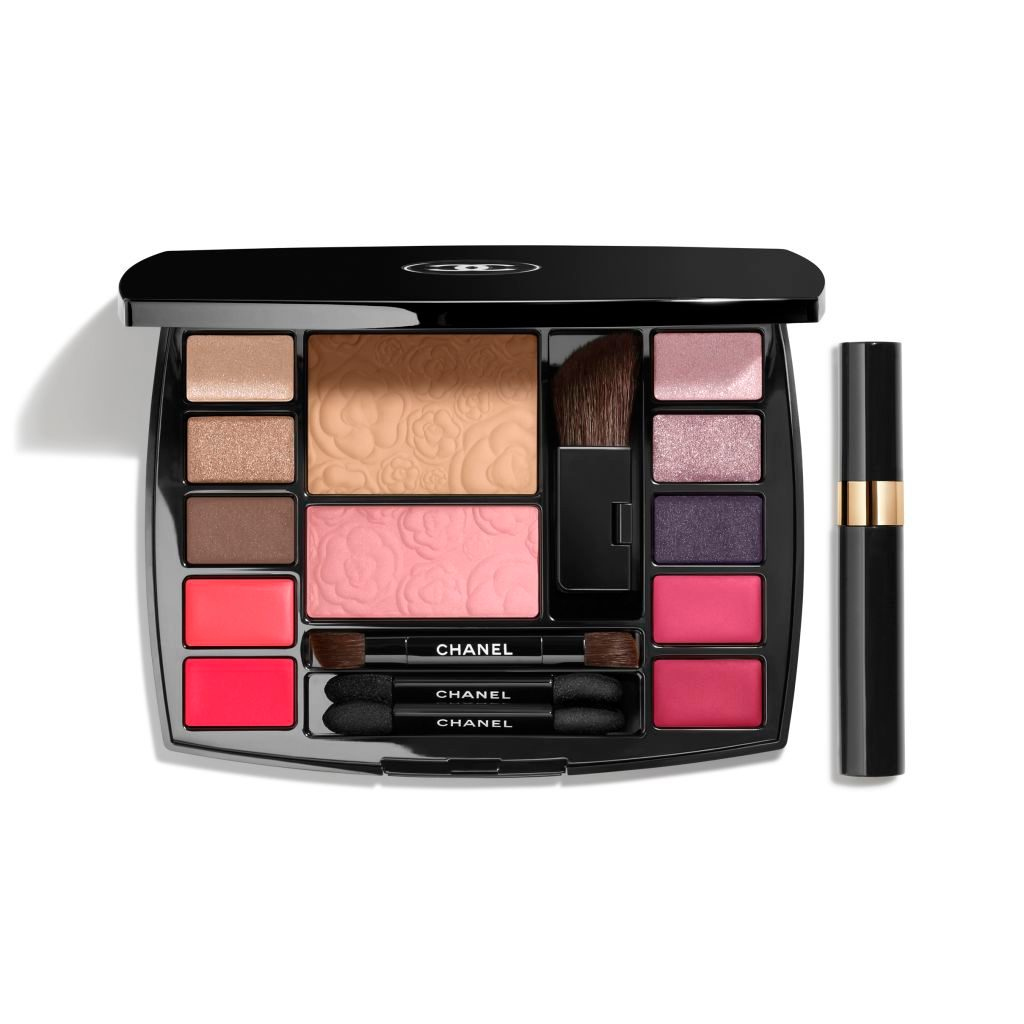 TRAVEL MAKEUP PALETTE MAKEUP ESSENTIALS WITH TRAVEL MASCARA Harmonie de Camélias HARMONIE DE CAMÉLIAS