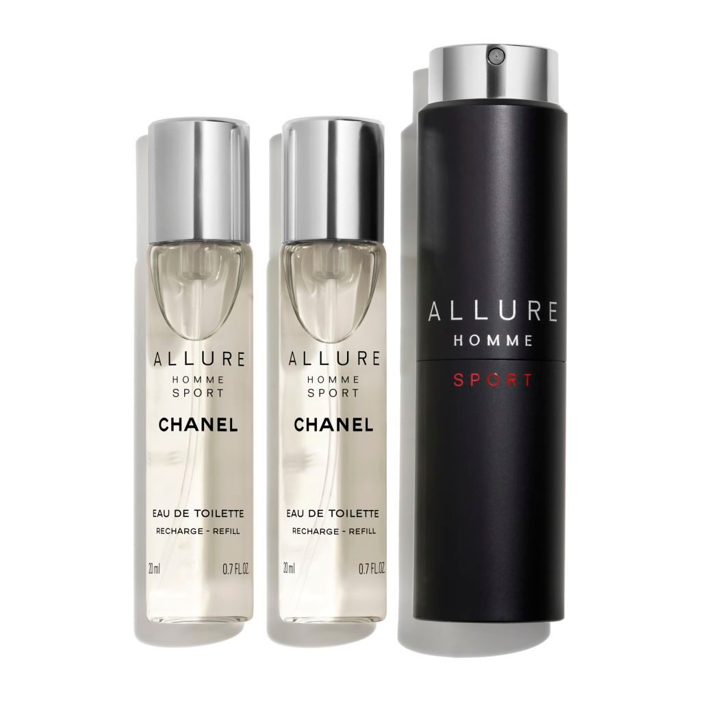 ALLURE HOMME SPORT EAU DE TOILETTE REFILLABLE TRAVEL SPRAY 3x20ml