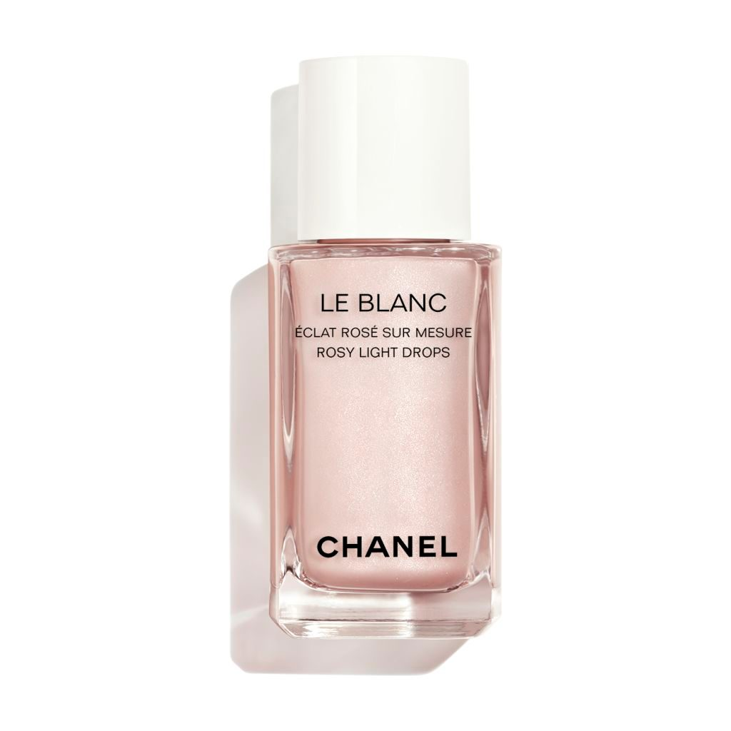 LE BLANC ROSY LIGHT DROPS SHEER HIGHLIGHTING FLUID. CUSTOM-MADE RADIANCE. ROSY GLOW FINISH. 30ml