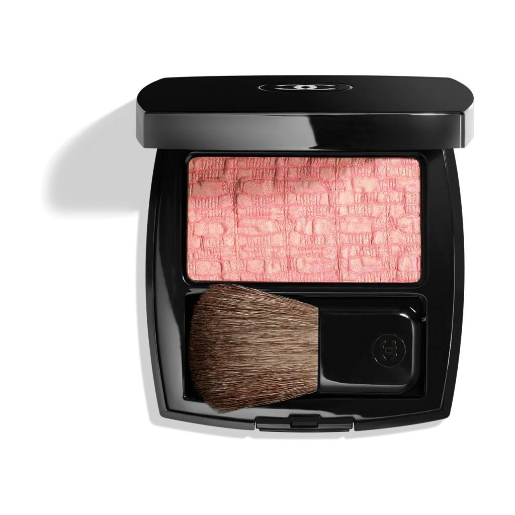 LES TISSAGES DE CHANEL BLUSH DUO IN POLVERE SETOSA 10 - TWEED PINK