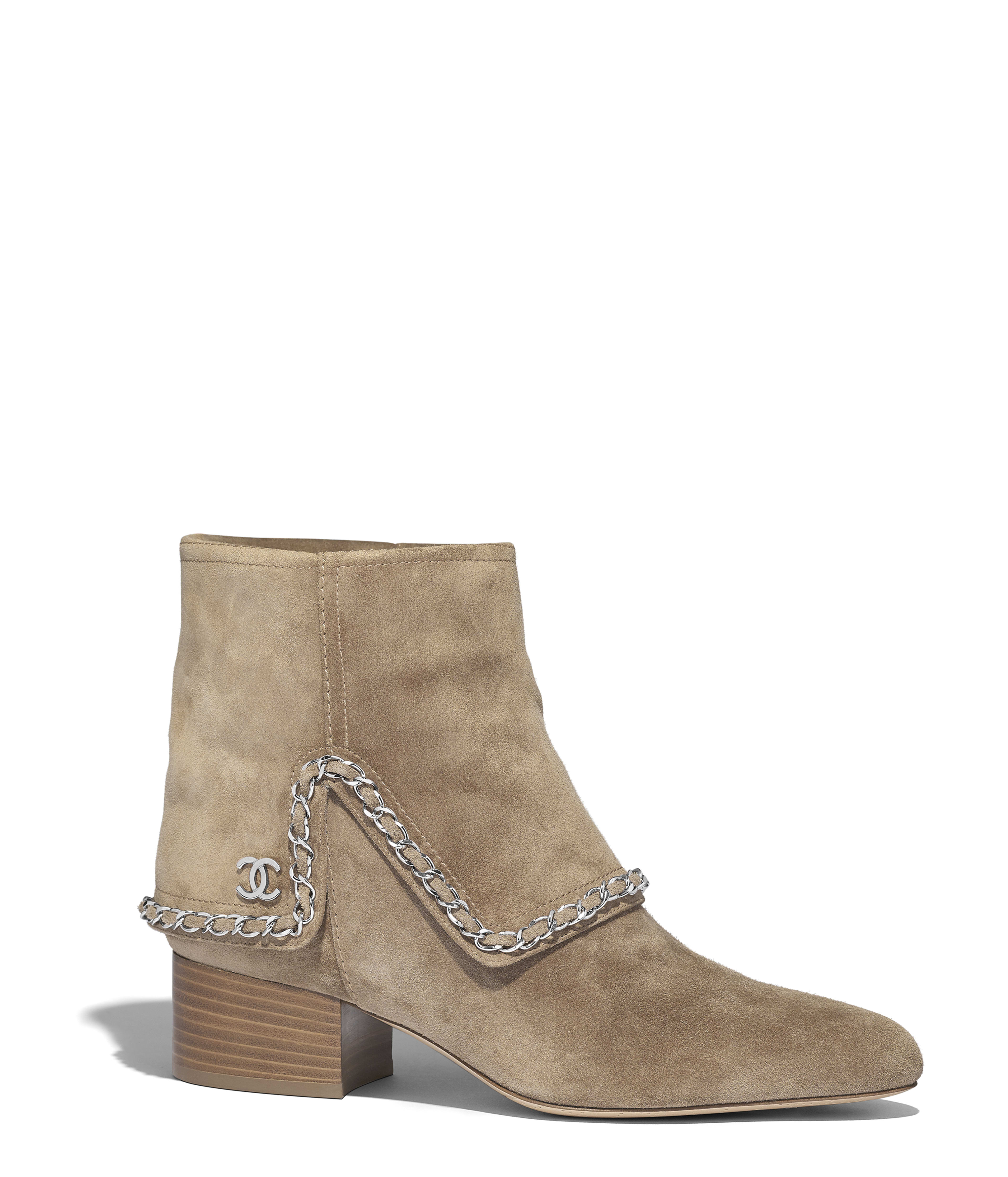 55a1037c3fcc Ankle Boots Suede Calfskin, Beige Ref. G34929X510300H886