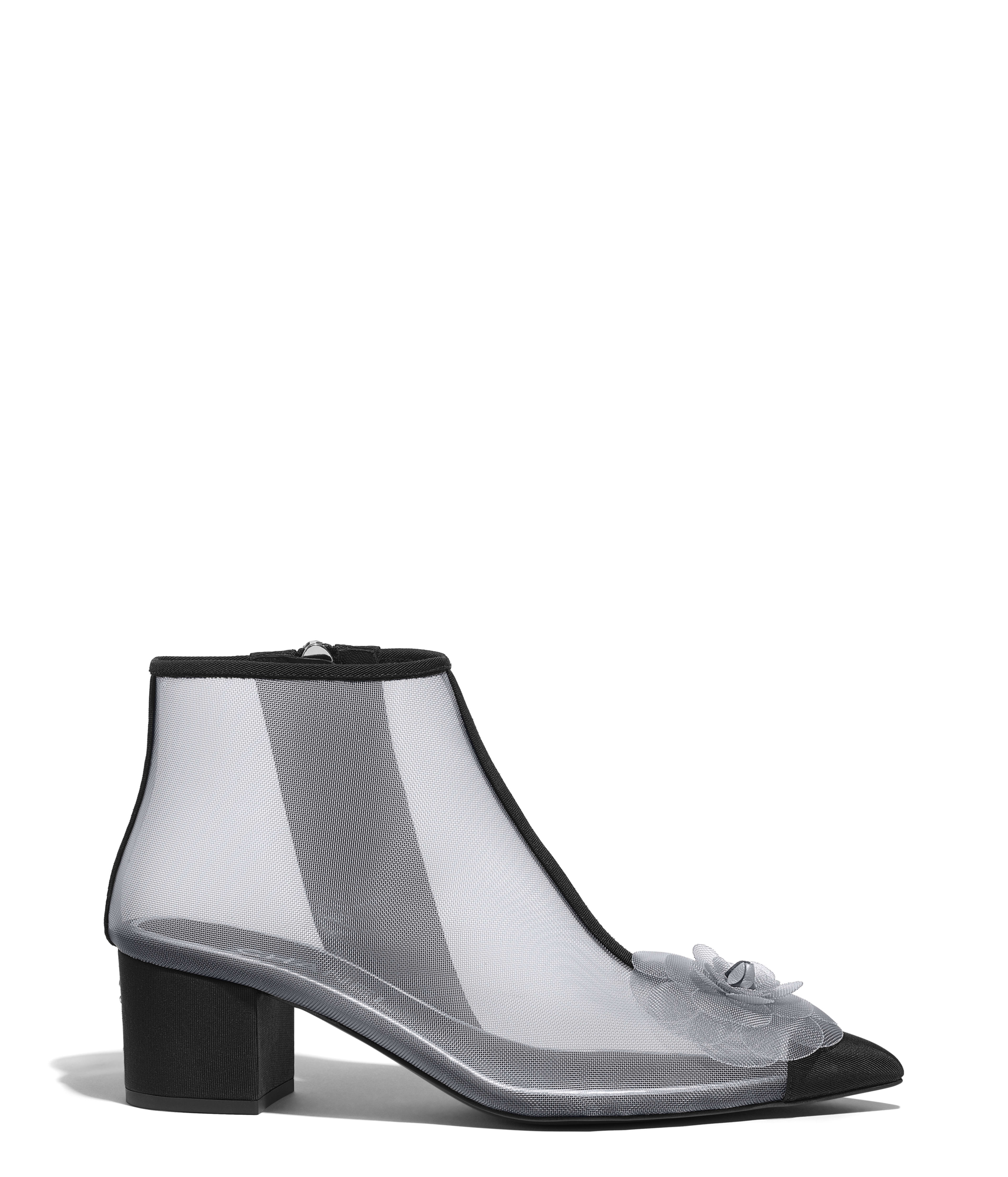 1379c7264 Ankle Boots Mesh & Grosgrain, Gray & Black Ref. G34544Y52423C1443