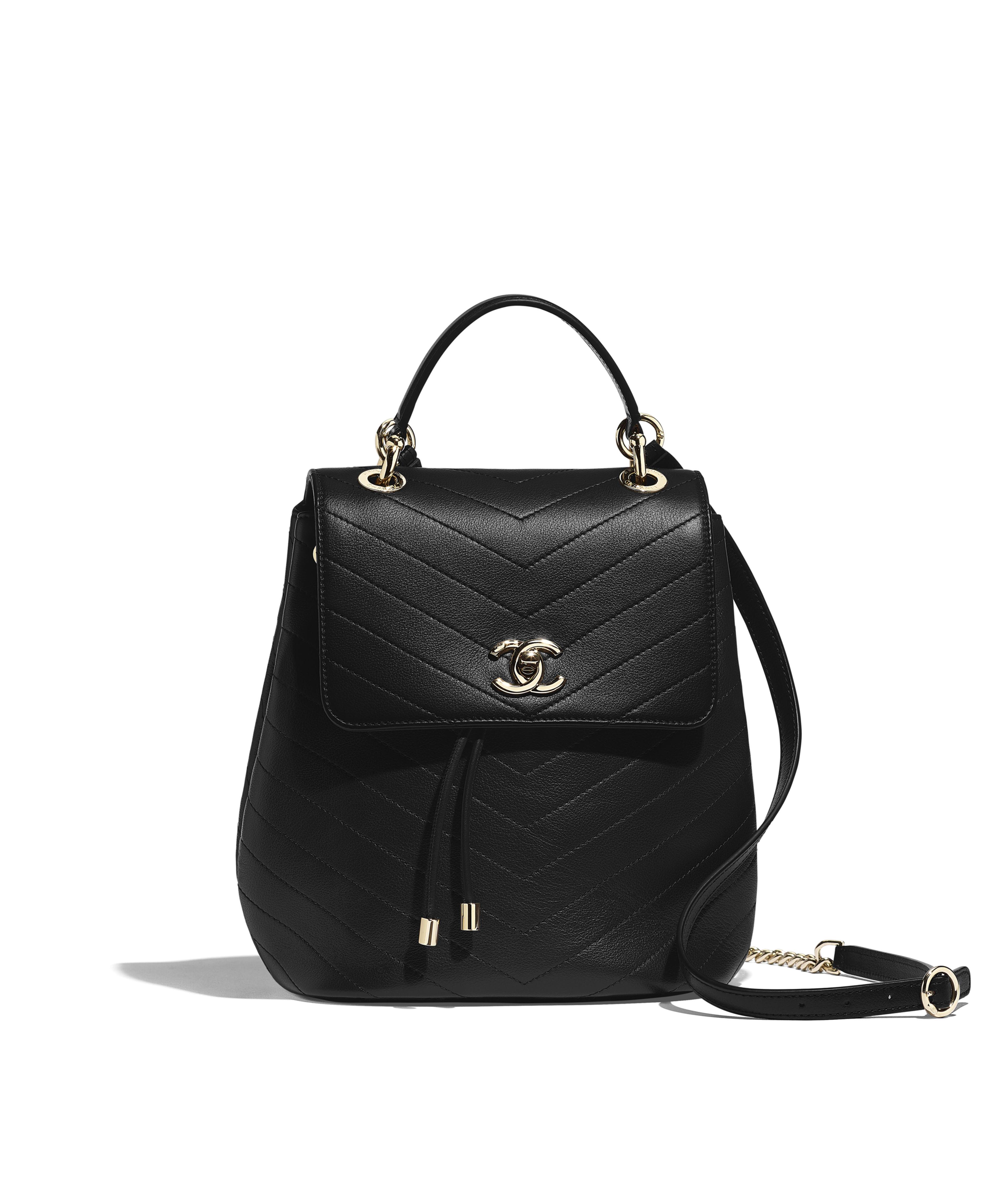 b03905118fc5 Backpack Grained Calfskin & Gold-Tone Metal, Black Ref. AS0640Y8338194305
