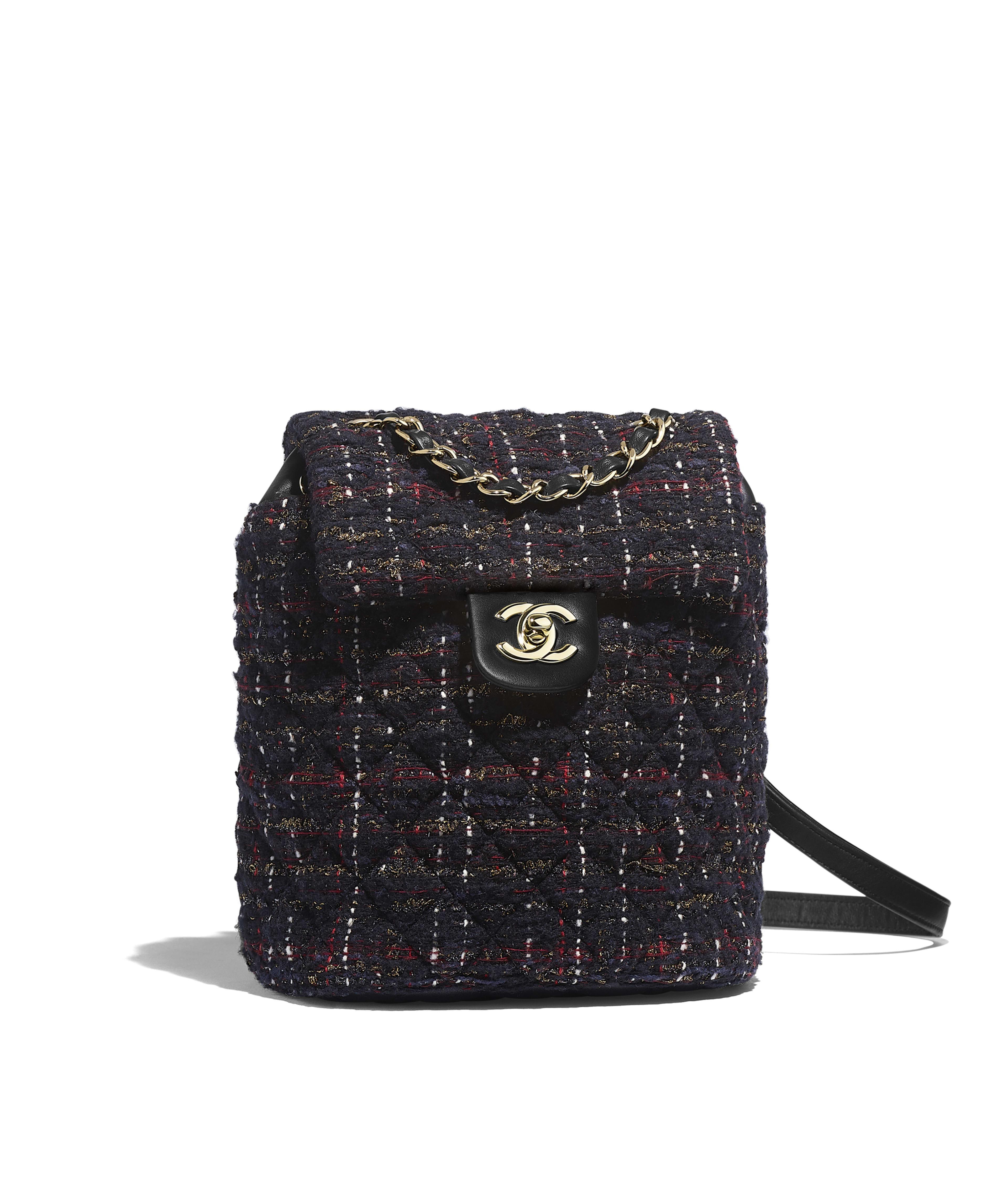 2d5f9f81f Backpack Tweed & Gold-Tone Metal, Black, Red, Gold & Ecru Ref.  A69964B01044MG507