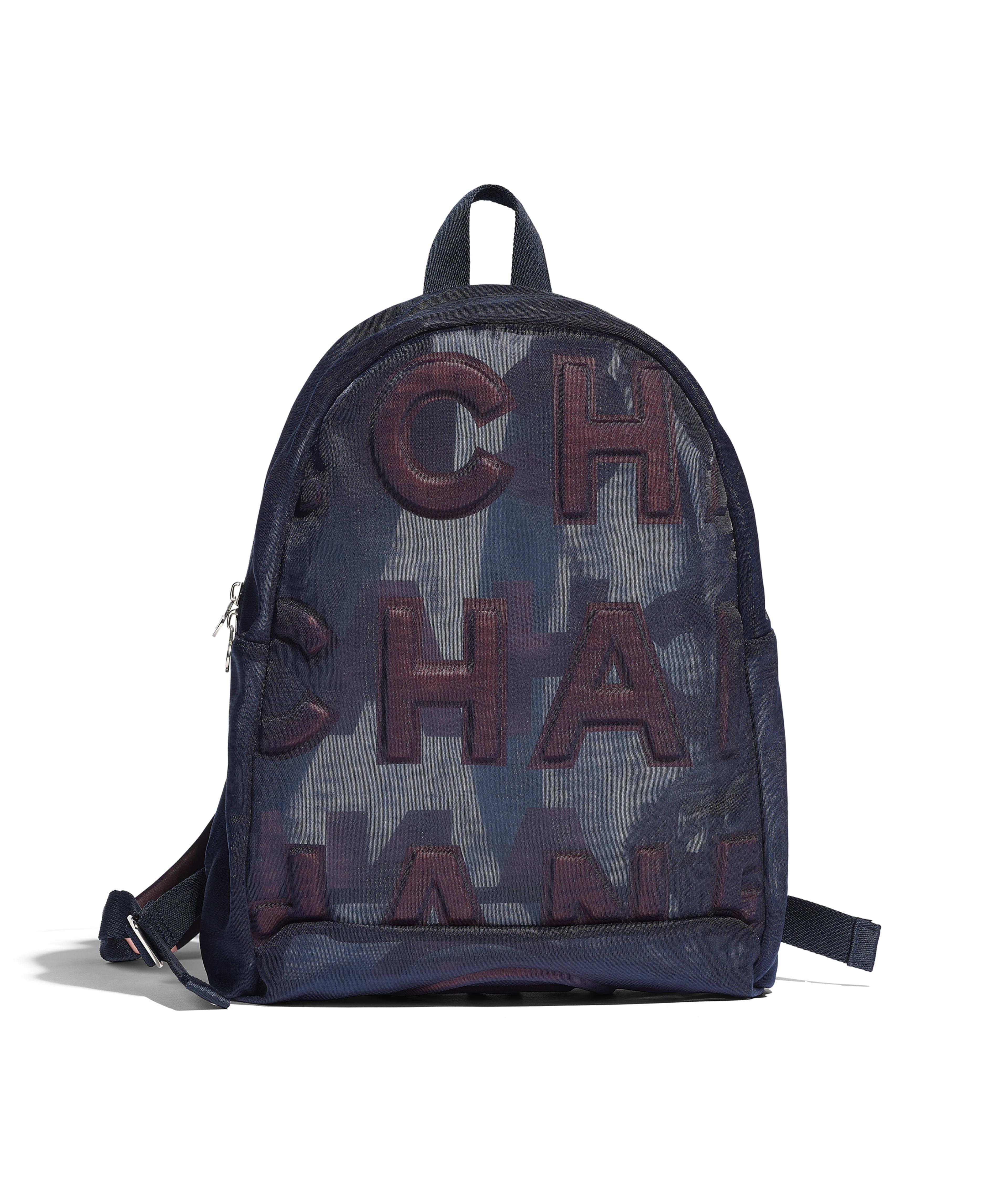 72d81c9c6fbabd Backpack Nylon & Silver-Tone Metal, Blue & Pink Ref. AS0422B00165N0800