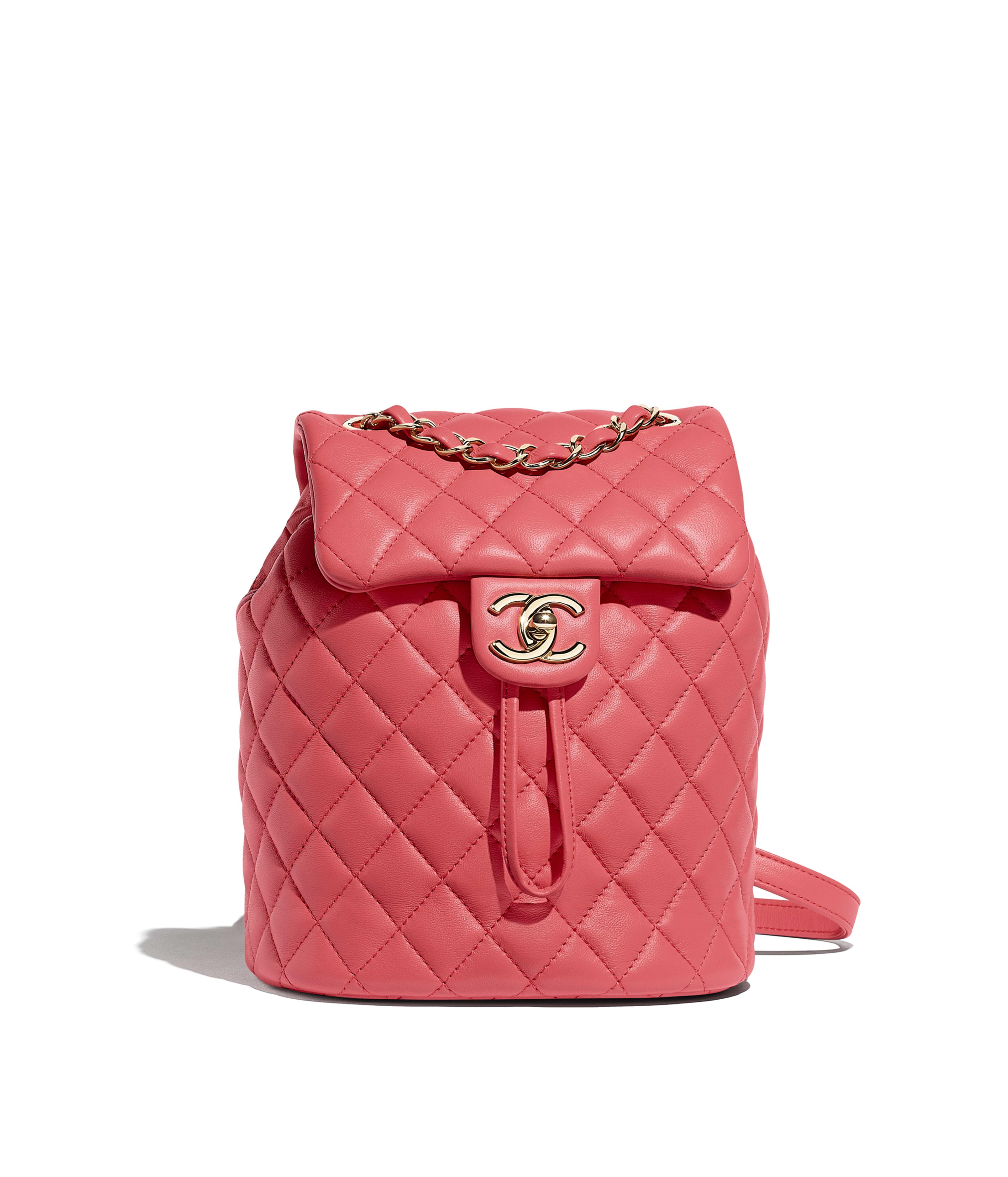 1af1331ffeab Backpack Lambskin & Gold-Tone Metal, Pink Ref. A69964B00250N0412