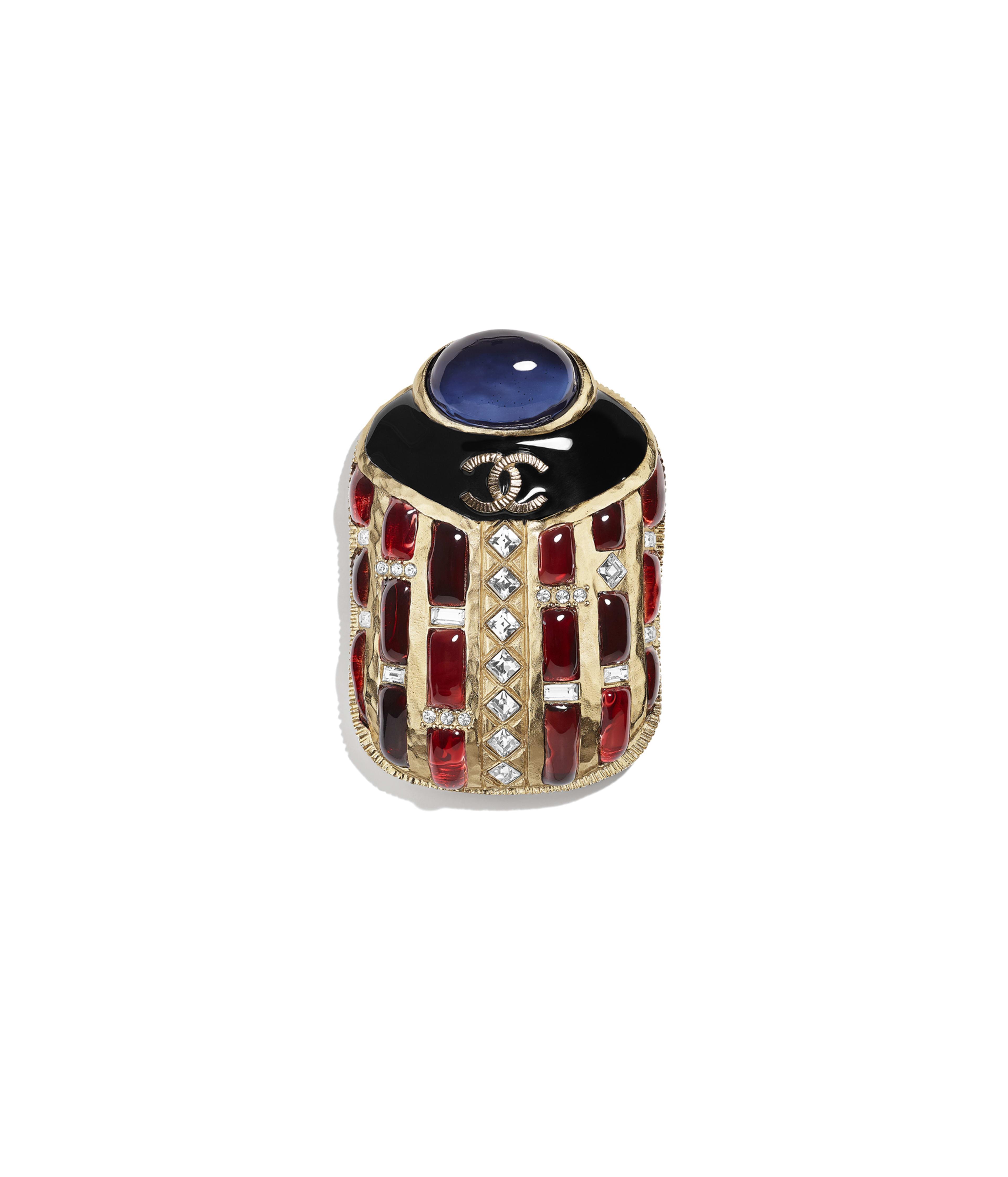 94ced7abc Brooch Metal, Strass & Resin, Gold, Black, Red, Blue & Crystal Ref.  AB1995Y47781Z9209