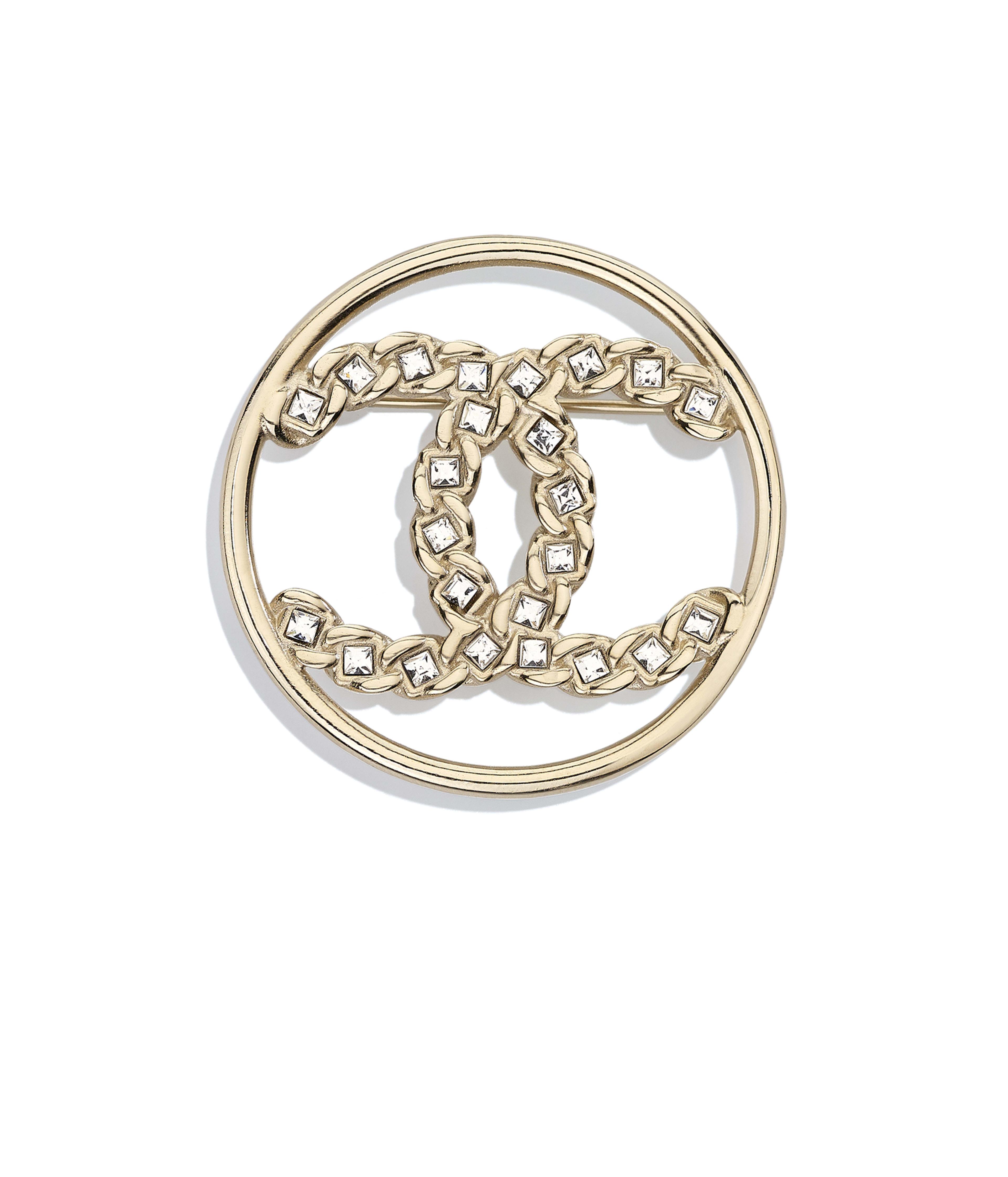 83c3526fdf83 Brooch Metal & Strass, Gold & Crystal Ref. AB0617Y02003Z5680