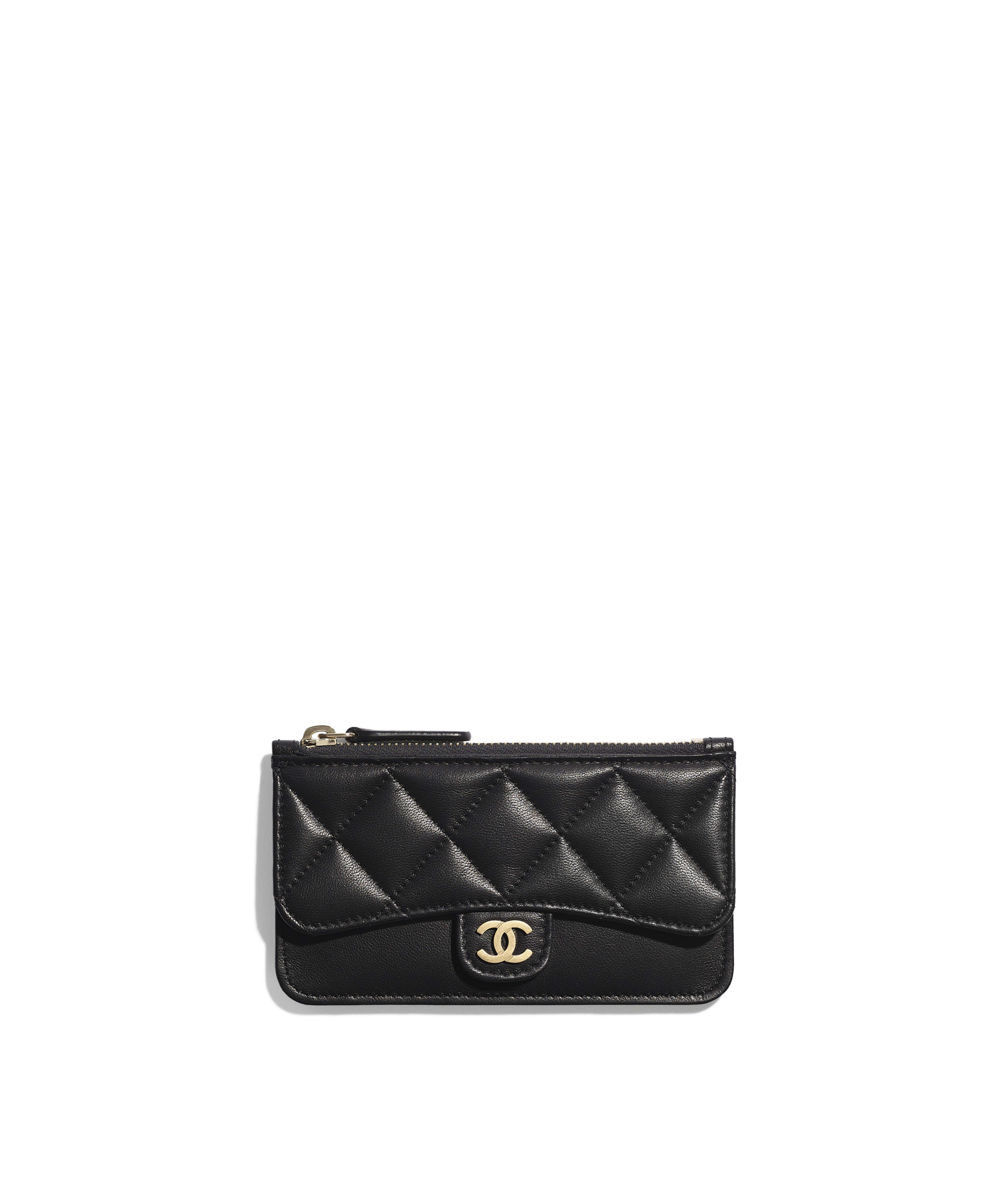 c78395ad9a7036 Classic Card Holder Lambskin & Gold-Tone Metal, Black Ref. AP0374Y07659C3906