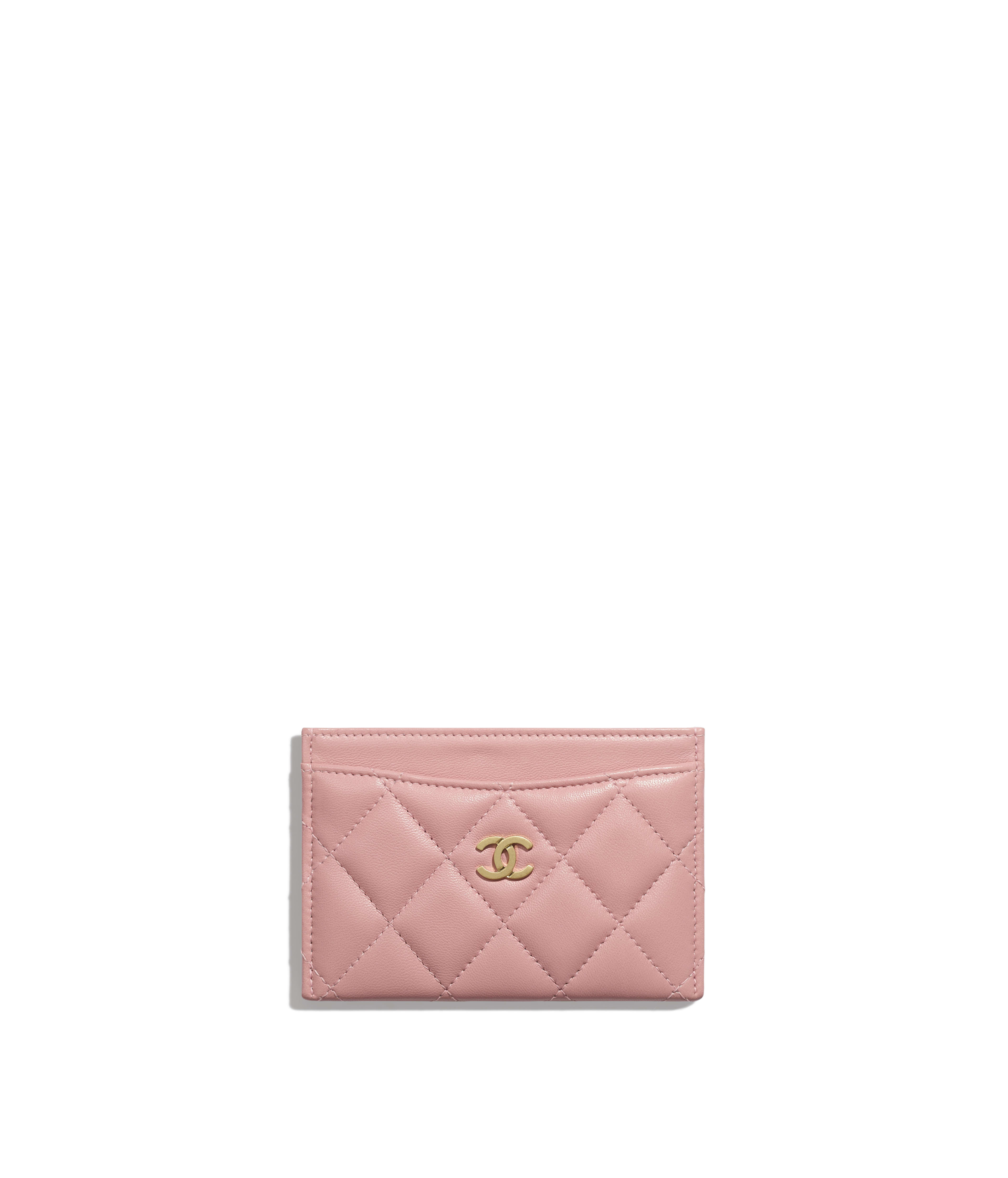 958c3a83a1c5 Classic Card Holder Lambskin & Gold-Tone Metal, Pink Ref. A31510Y07659N0897