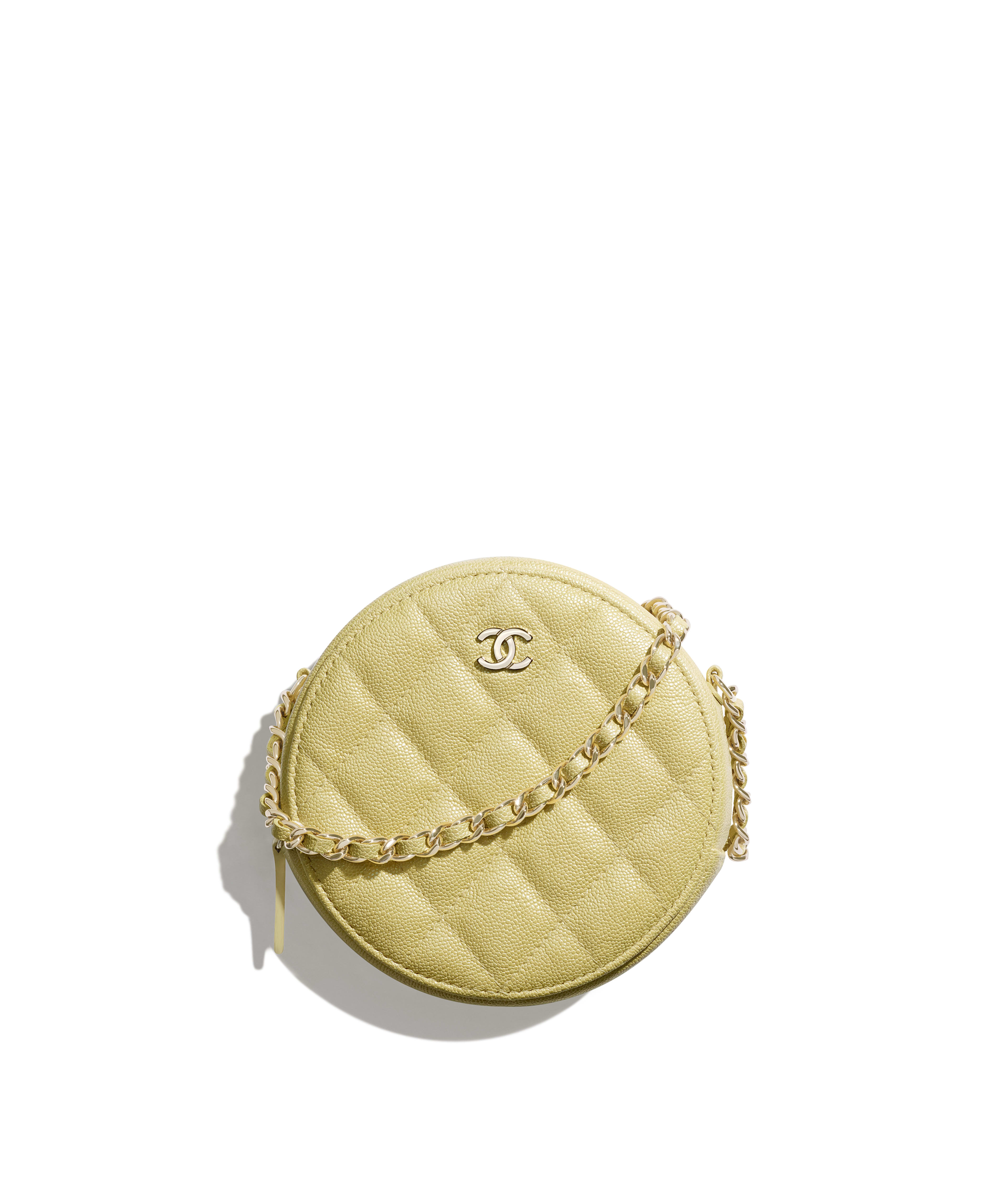 fbaa69fff0 Classic Clutch with Chain Iridescent Grained Calfskin   Gold-Tone Metal