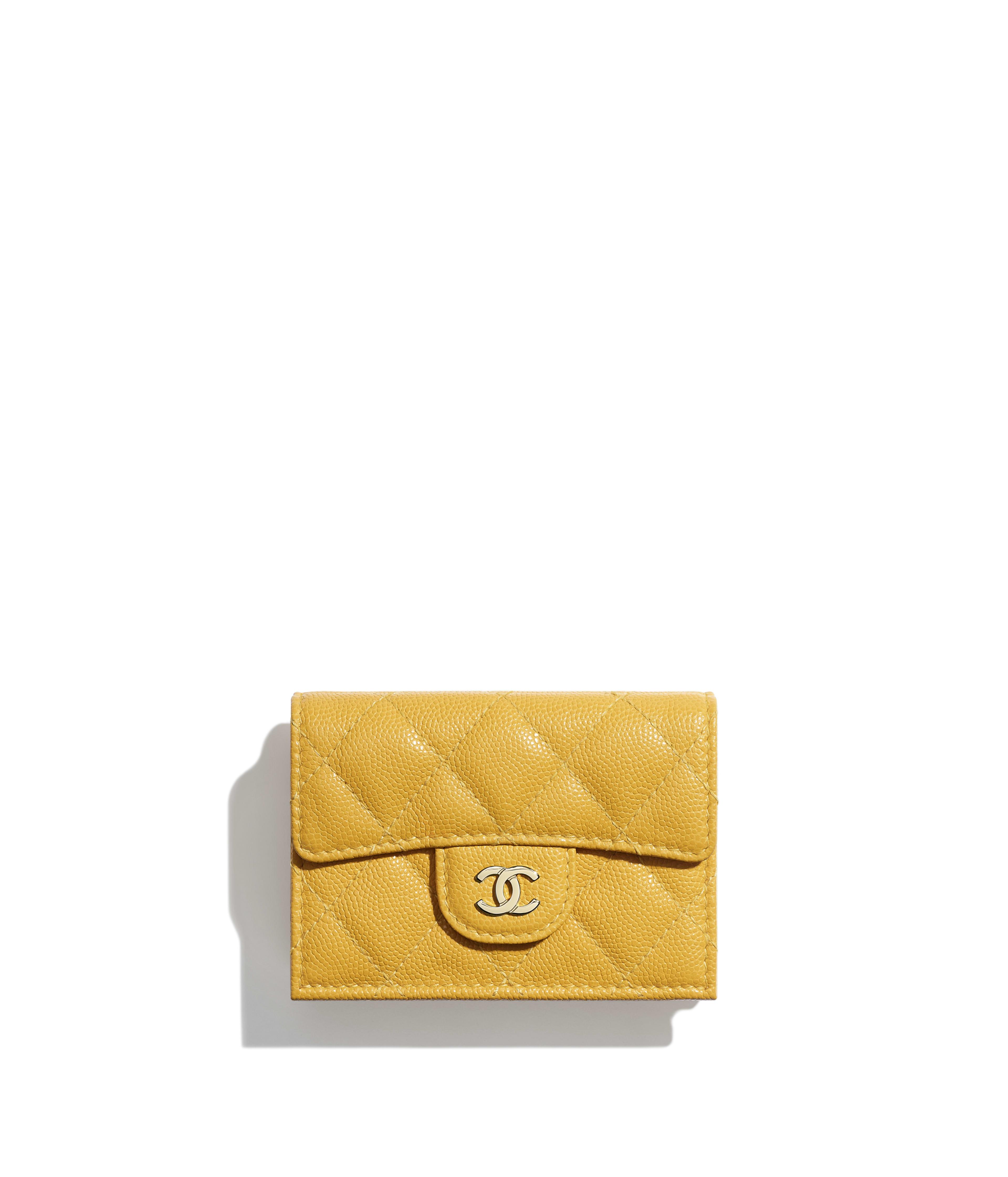 65d74f8bb9c5 Classic Small Flap Wallet Grained Calfskin   Gold-Tone Metal