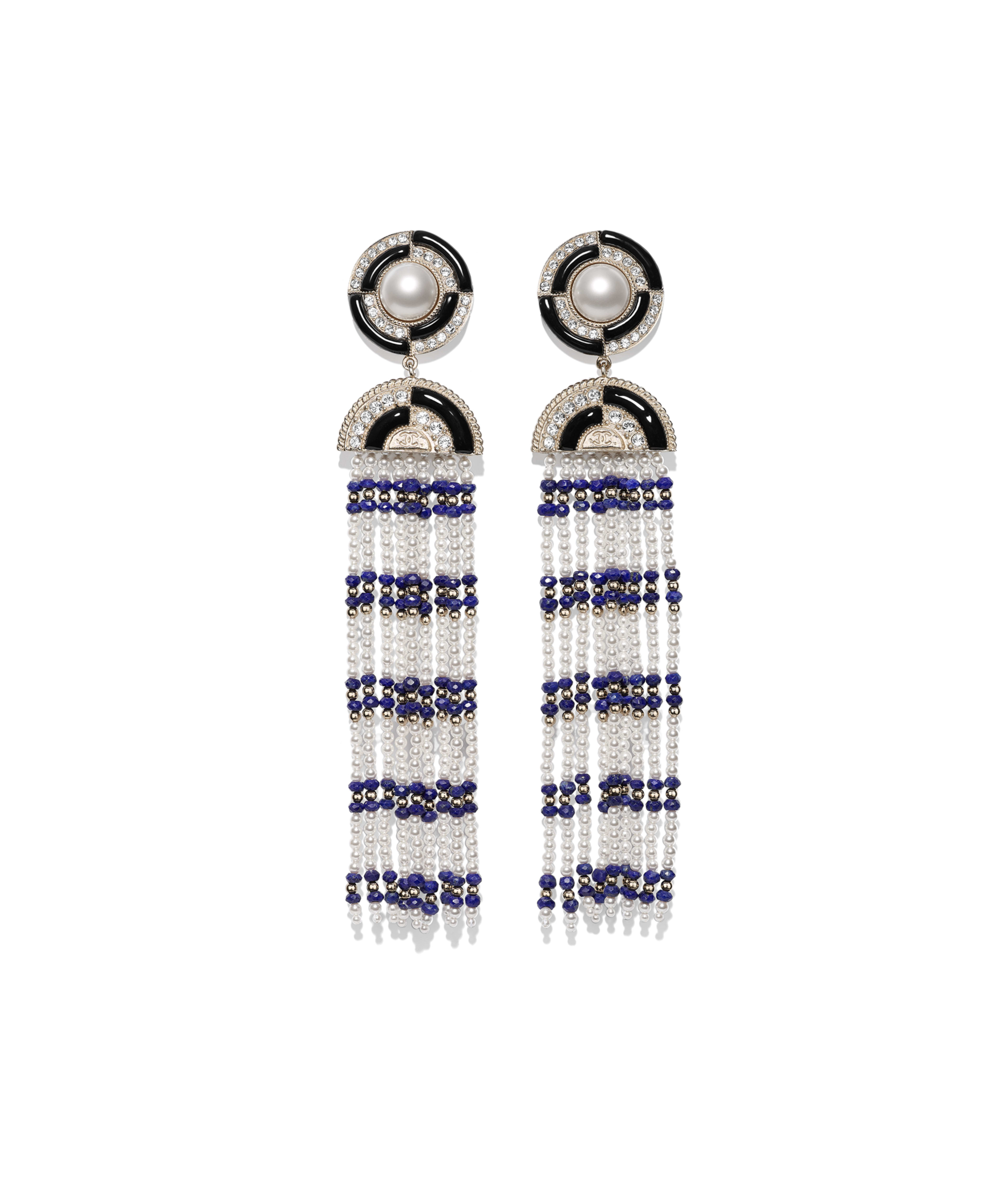 f27c83a8f90e Clip-on Earrings Metal, Natural Stones, Glass Pearls, Strass & Resin, Gold,  Black, Blue, Pearly White & Crystal Ref. AB1972Y47785Z9213
