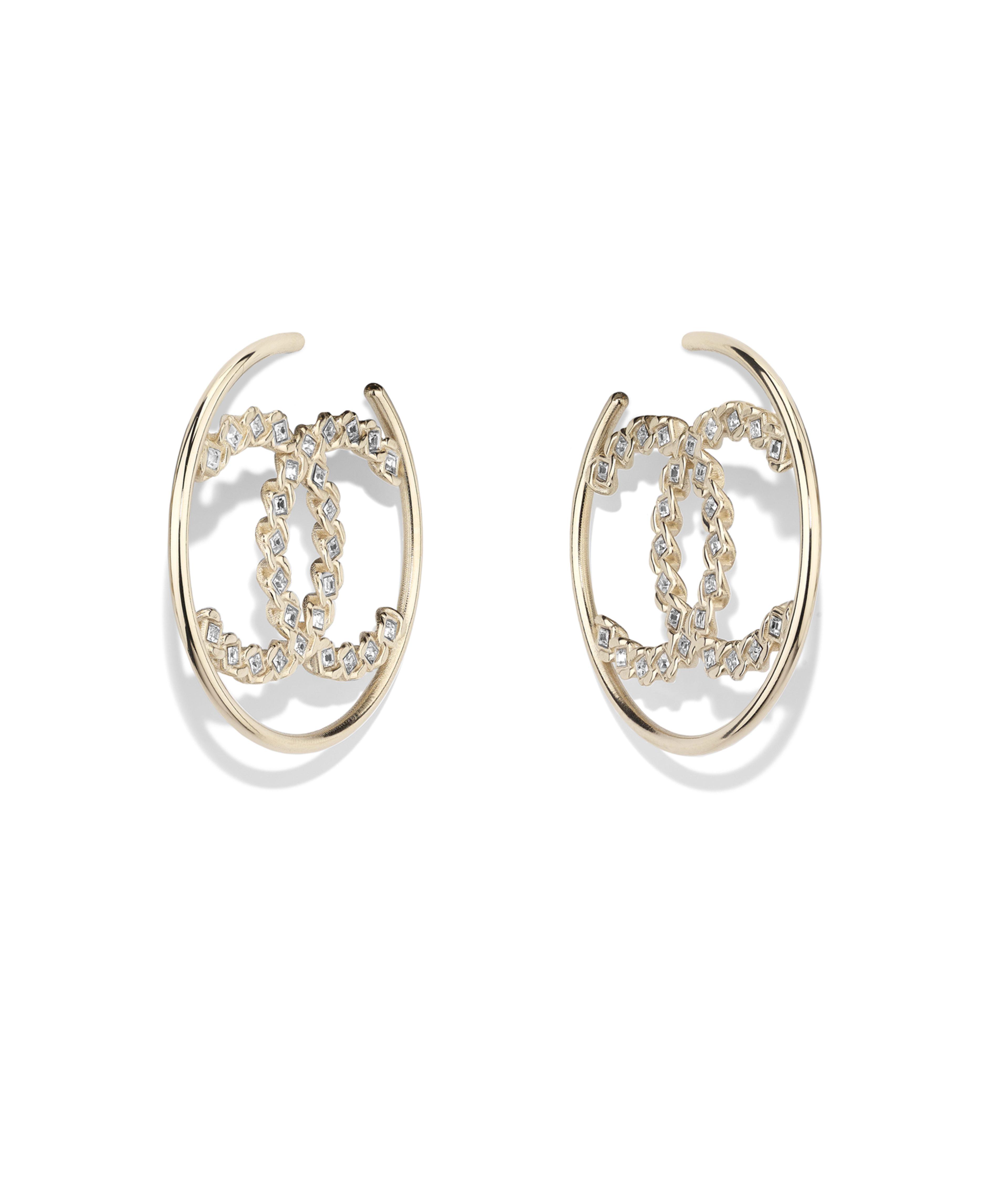 Earrings Metal Str Gold Crystal Ref Ab0613y02003z5680