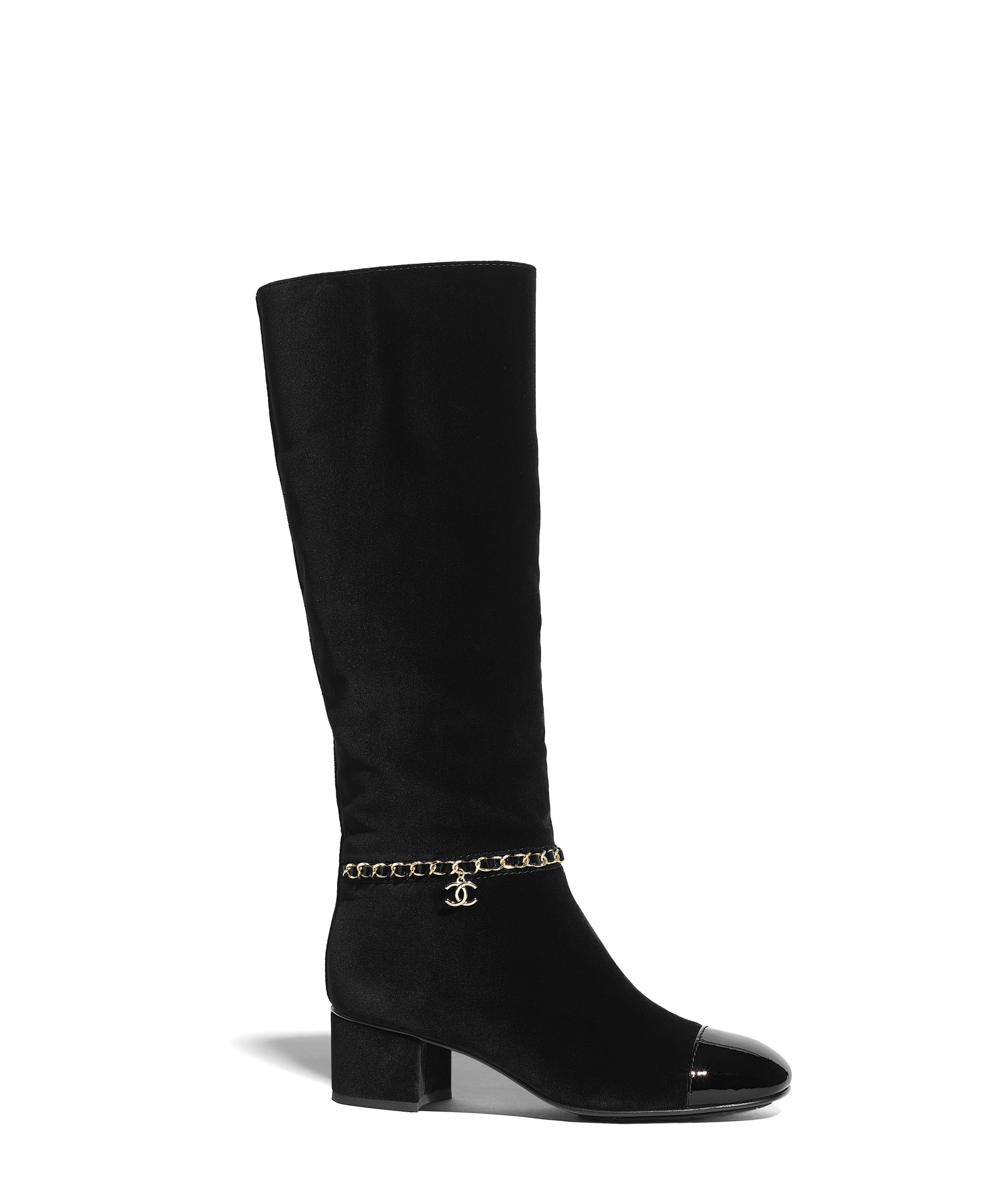 1ff731fd5 High Boots Velvet & Patent Calfskin, Black Ref. G35006Y5340394305