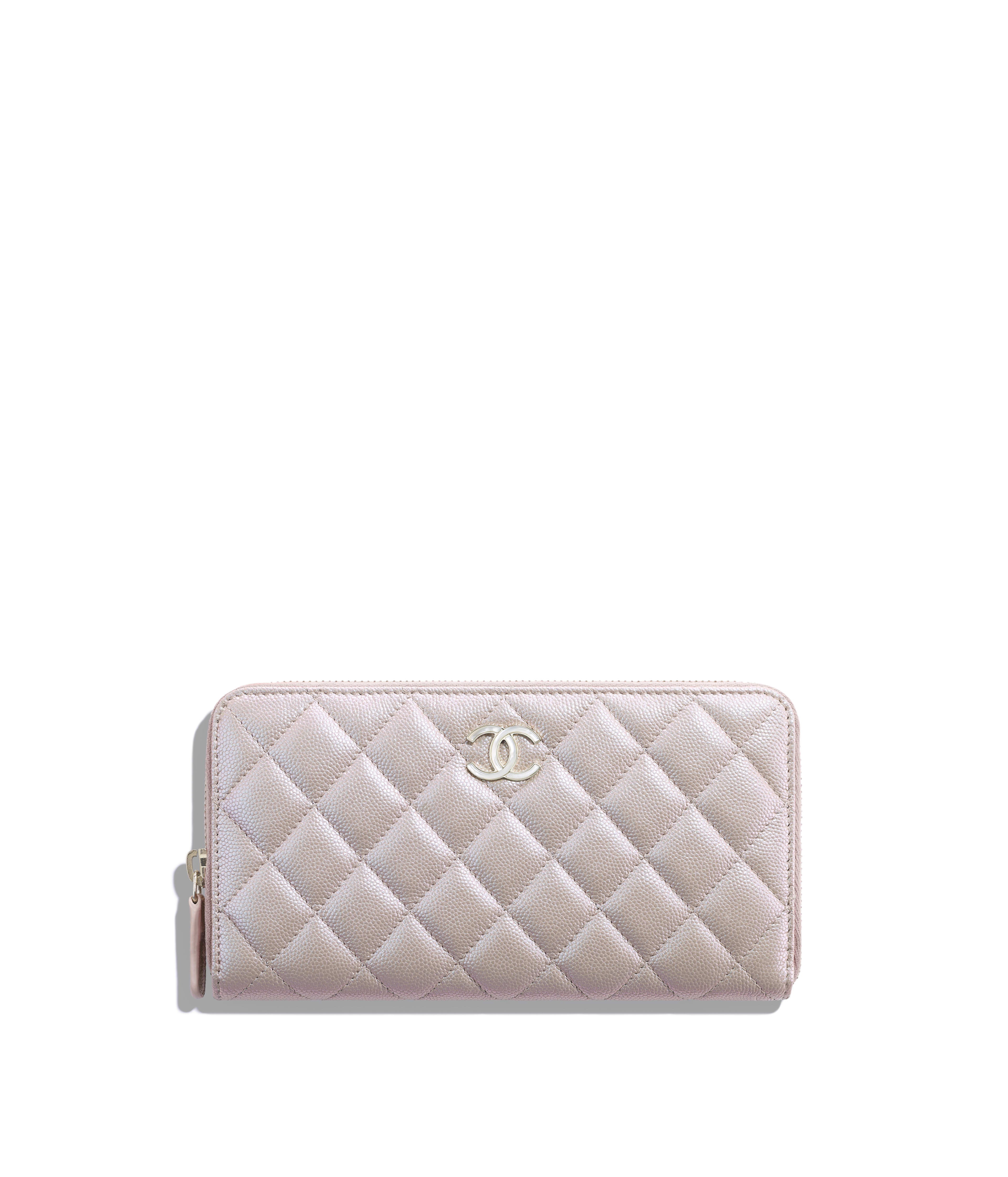 4731424cea42 Long Zipped Wallet Iridescent Grained Lambskin & Gold-Tone Metal, Beige  Ref. AP0313B00483N4312