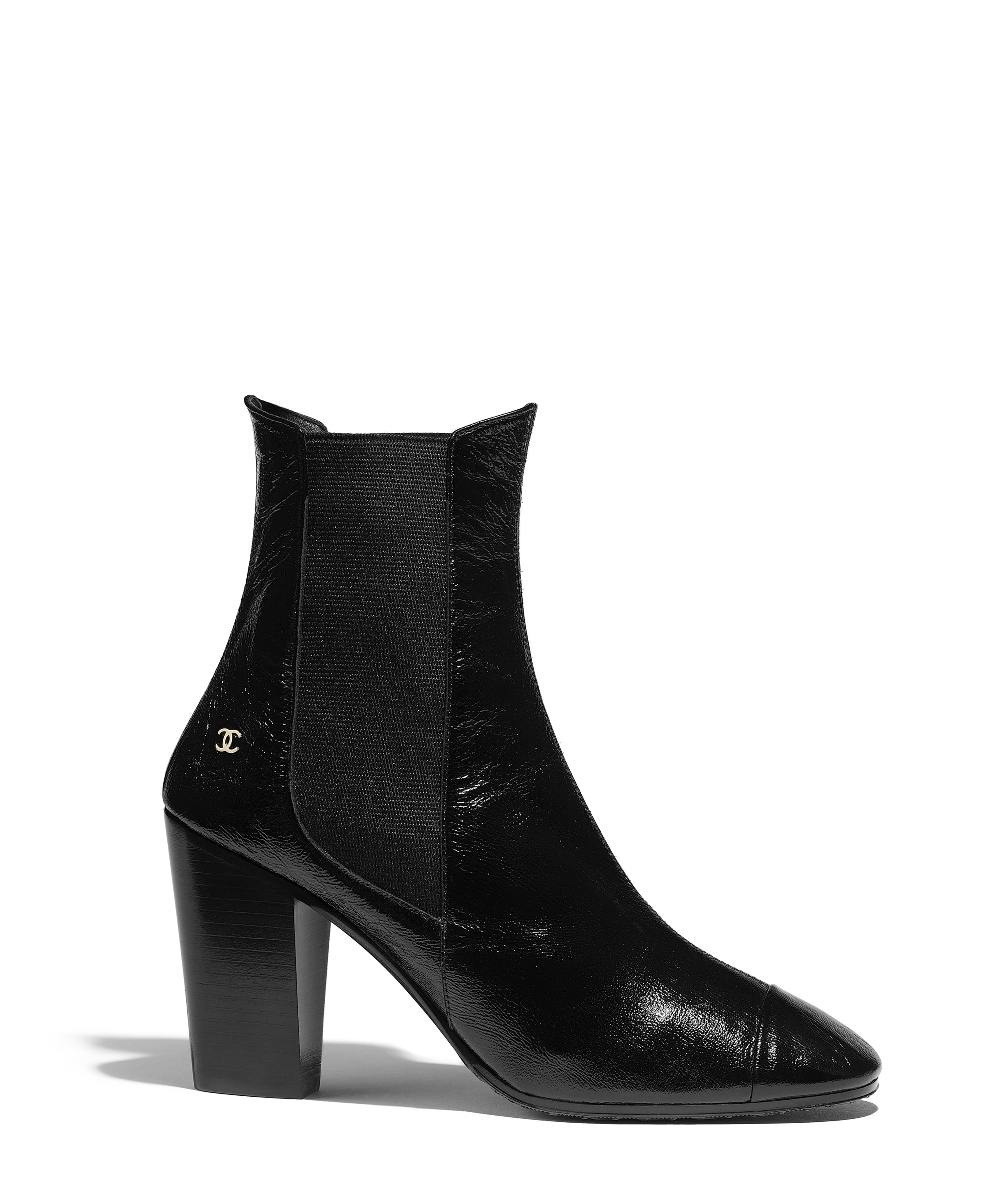 c682ae4be68cb6 Short Boots Patent Lambskin
