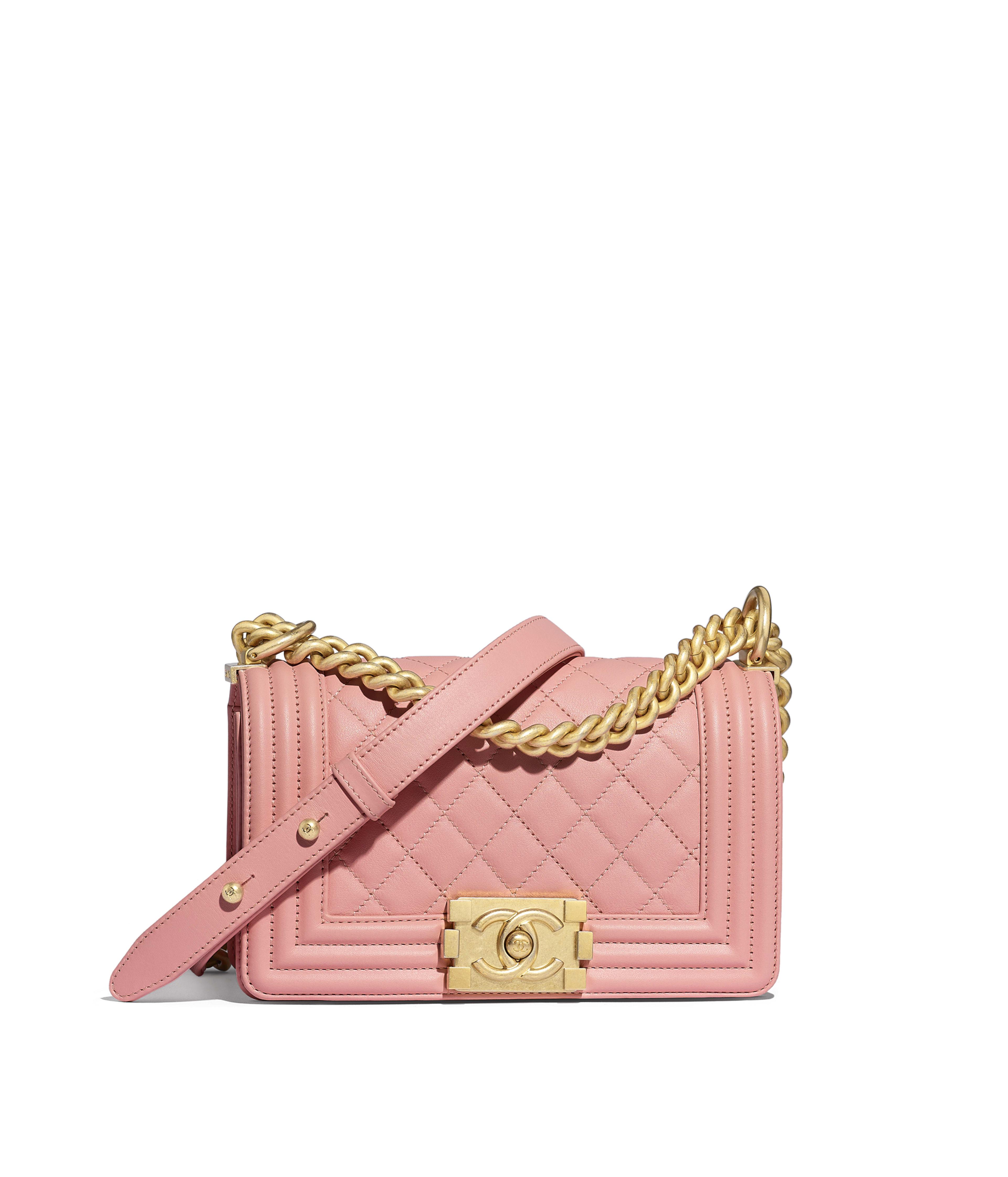 6afb749bf0a Small BOY CHANEL Handbag Calfskin & Gold-Tone Metal, Pink Ref.  A67085Y09939N0897
