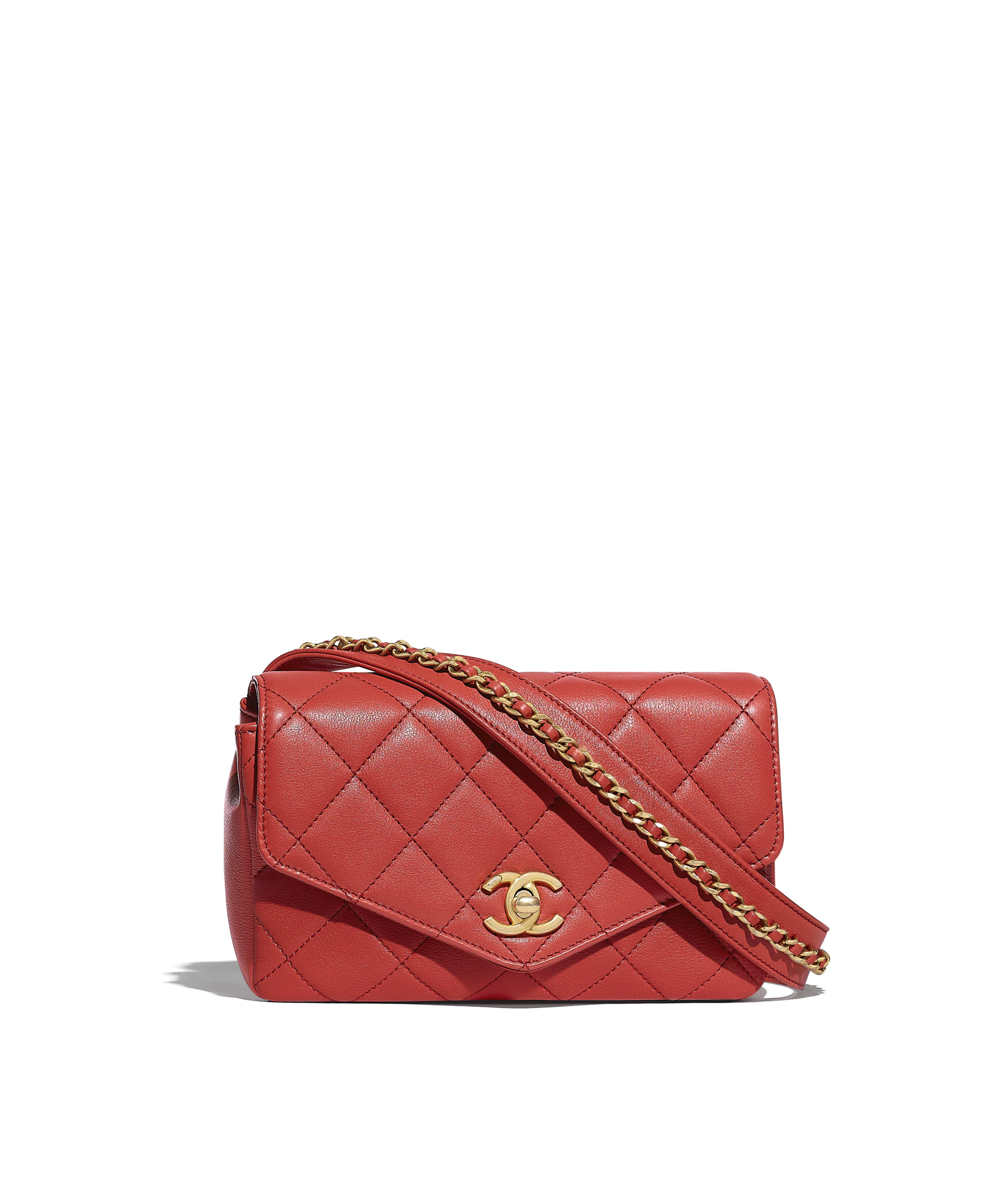 81ba6b94b1ac Calfskin & Gold-Tone Metal Beige Flap Bag with Top Handle | CHANEL