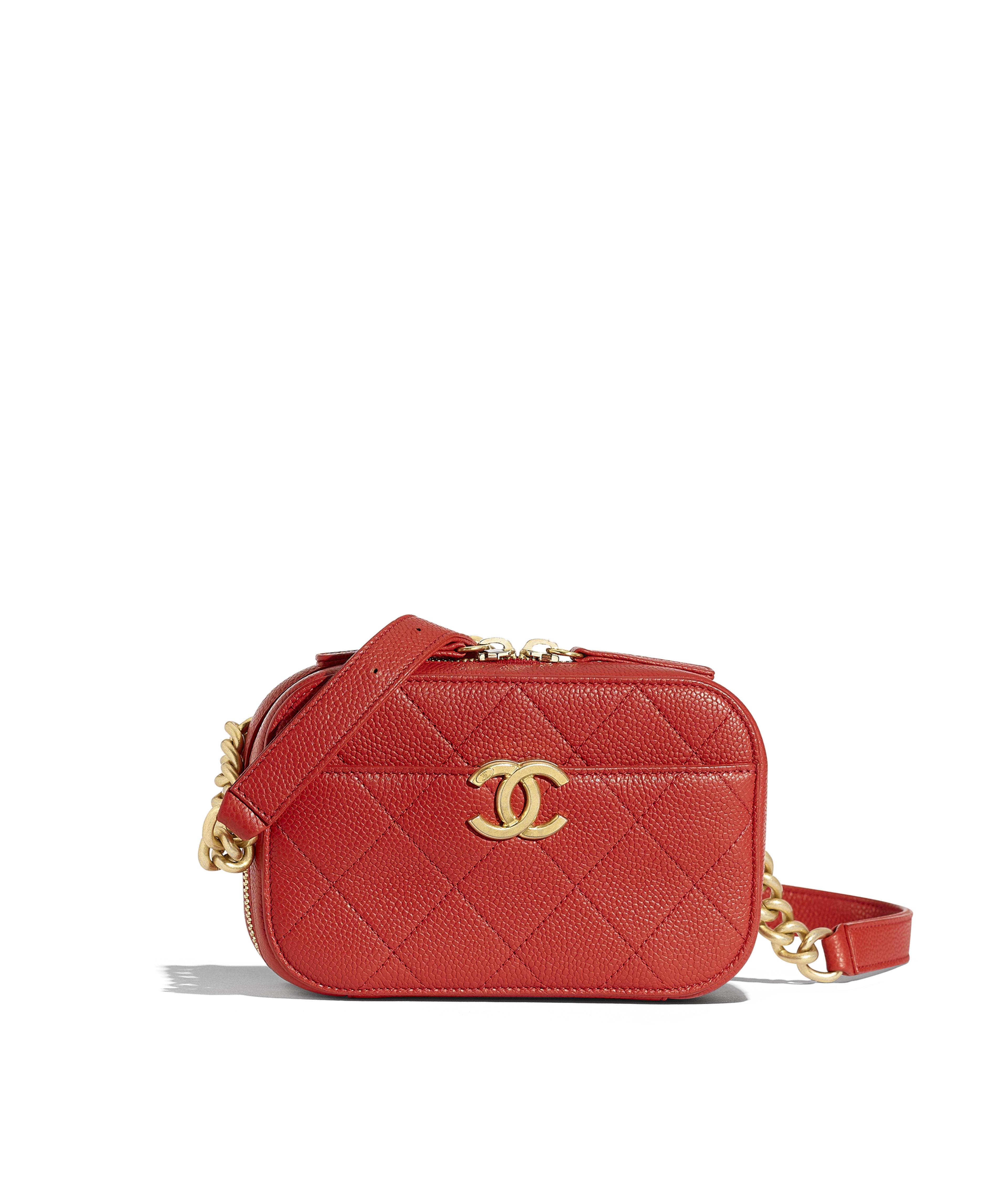 abec39d922aa Waist Bag Grained Calfskin & Gold-Tone Metal, Red Ref. AS0311B00170N0413