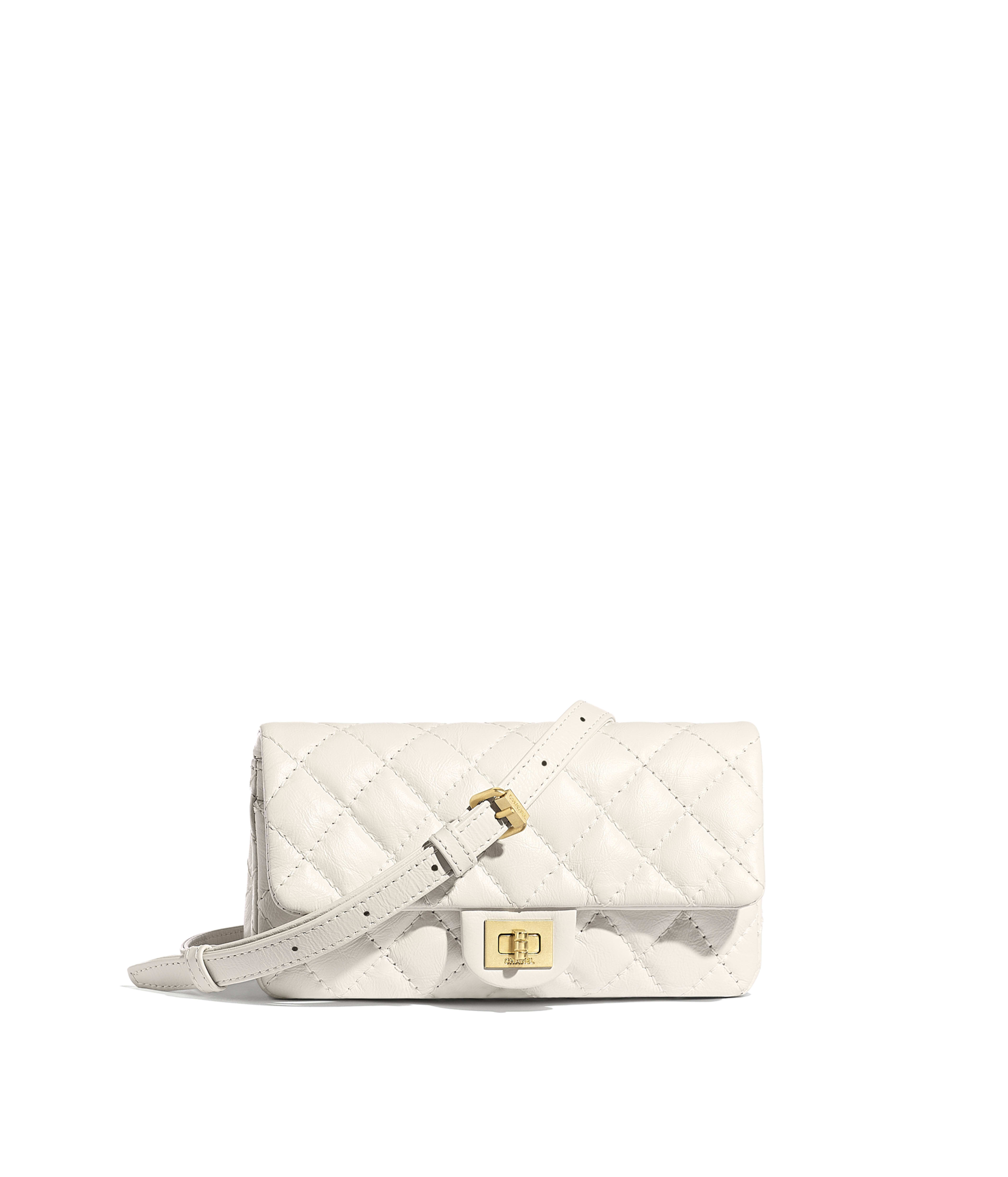 678566975dfe30 Waist Bag Aged Calfskin & Gold-Tone Metal, White Ref. A57791Y0463410601