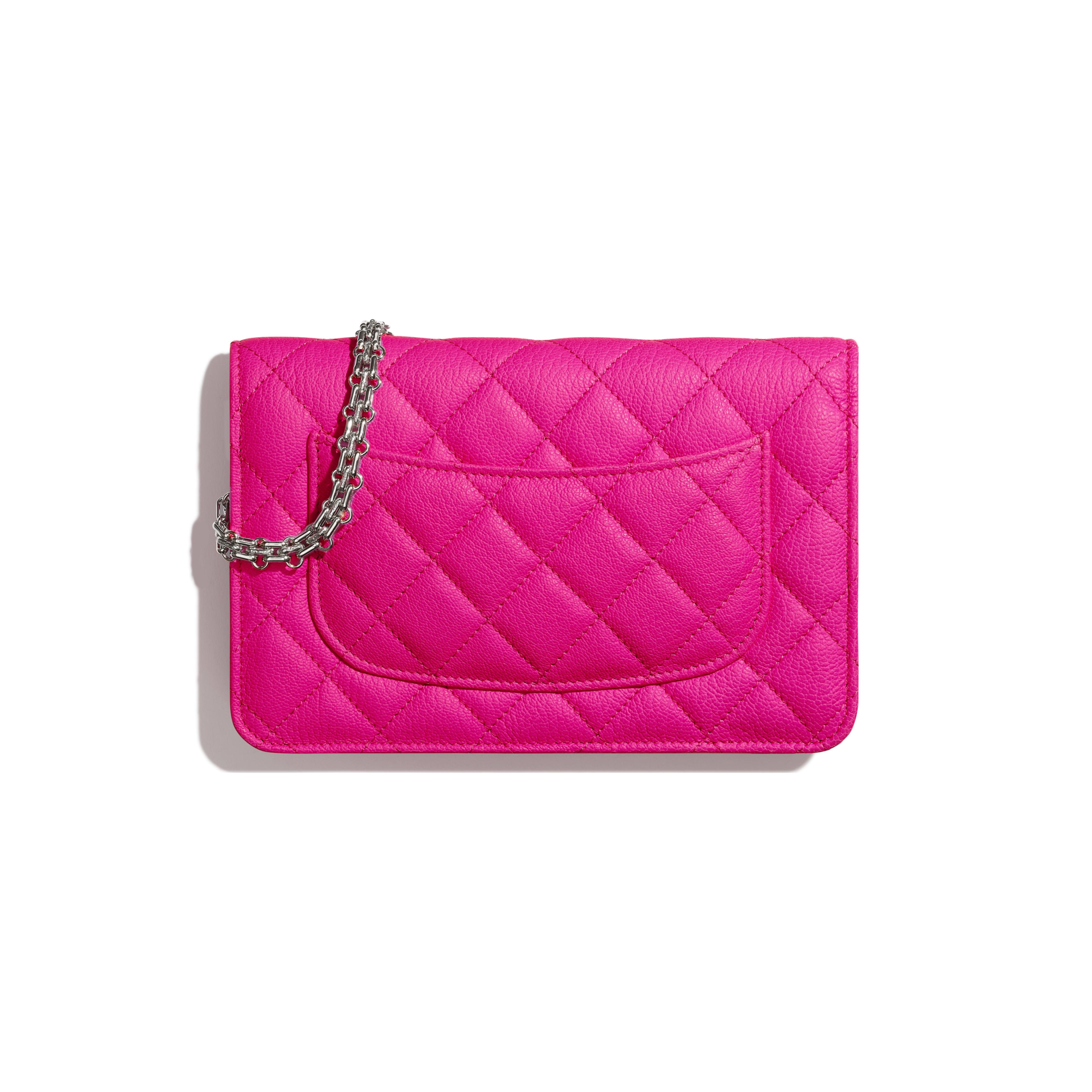 2.55 Wallet on Chain - Pink - Goatskin & Silver-Tone Metal - Alternative view - see full sized version