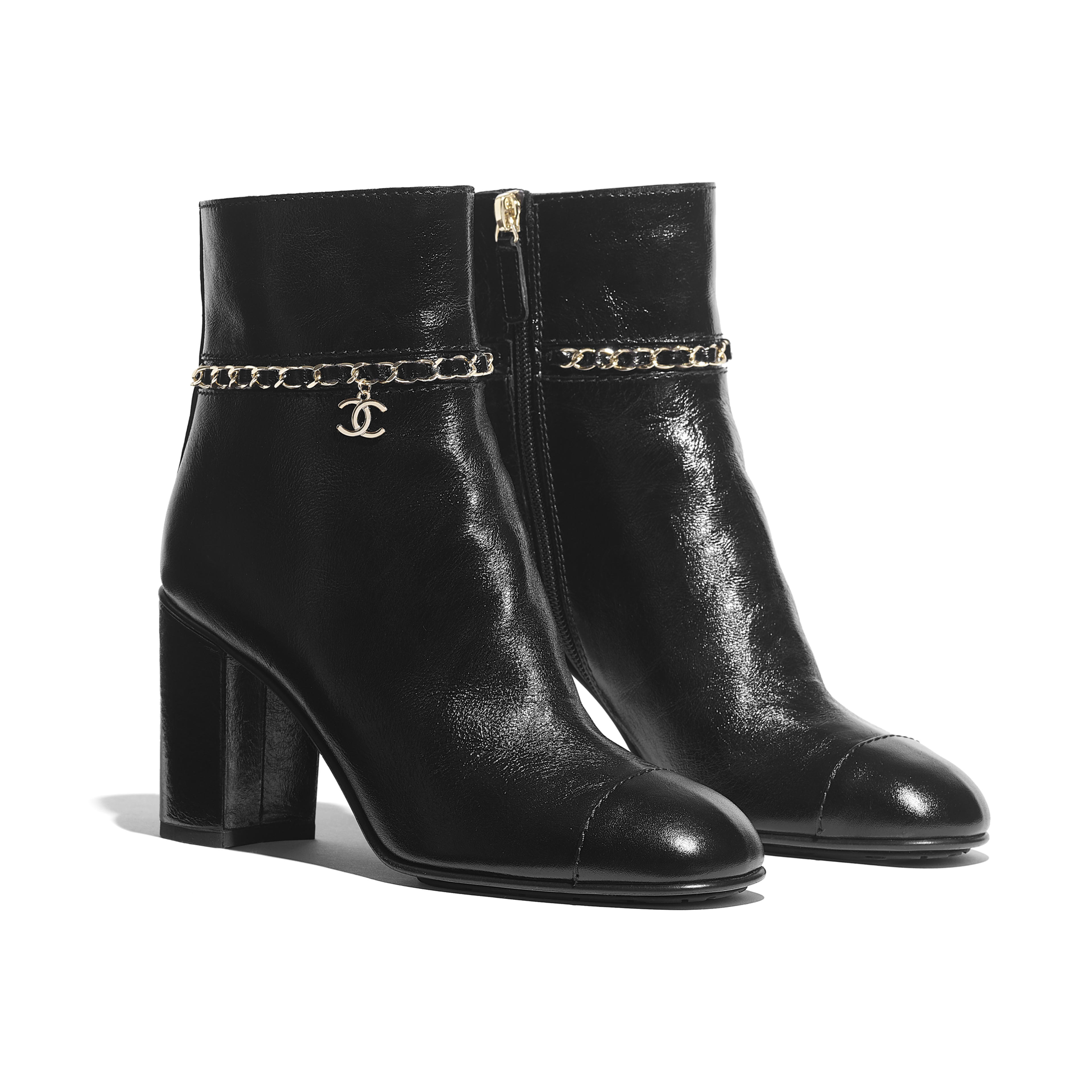 Ankle Boots - Black - Calfskin - Alternative view - see full sized version