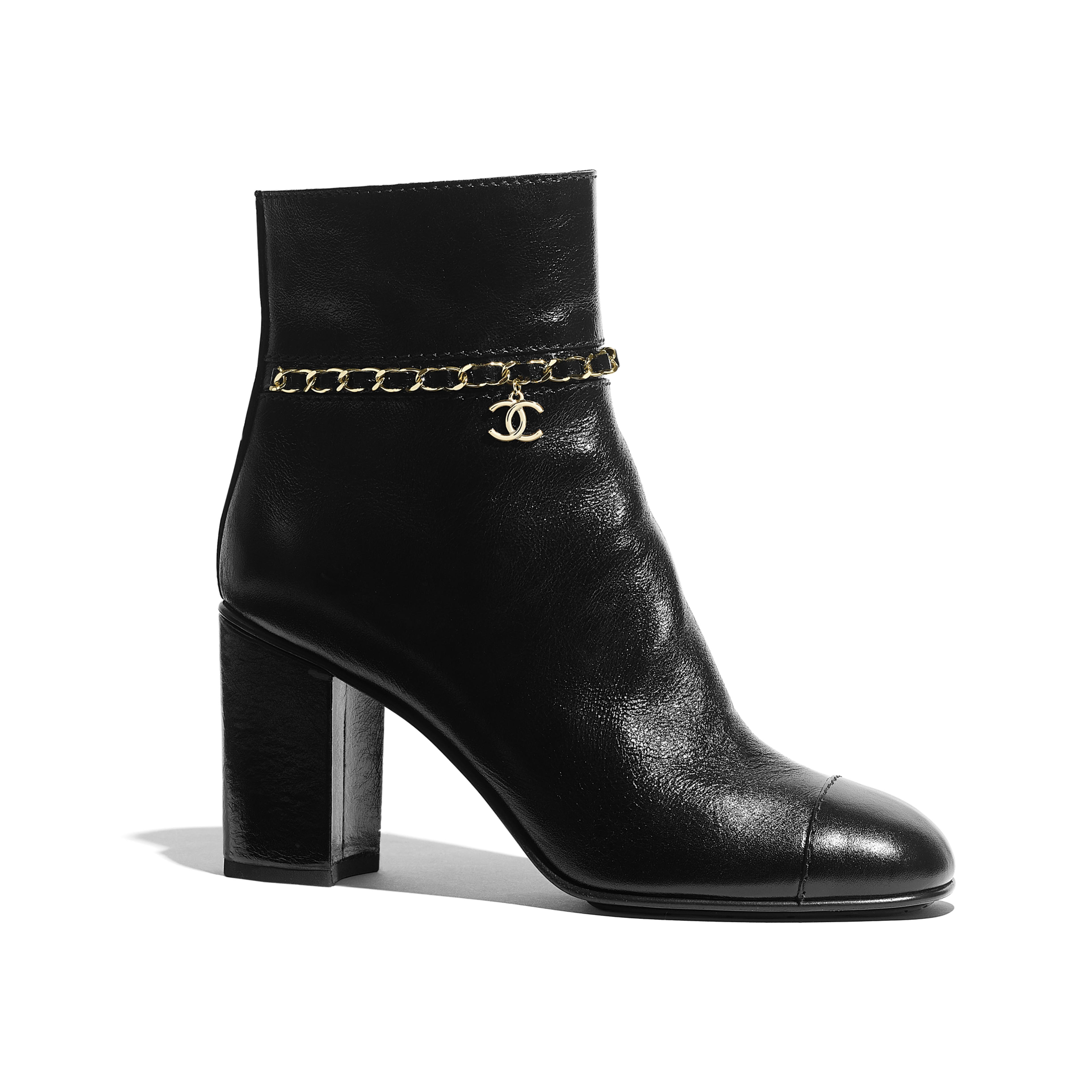 Ankle Boots - Black - Calfskin - Default view - see full sized version