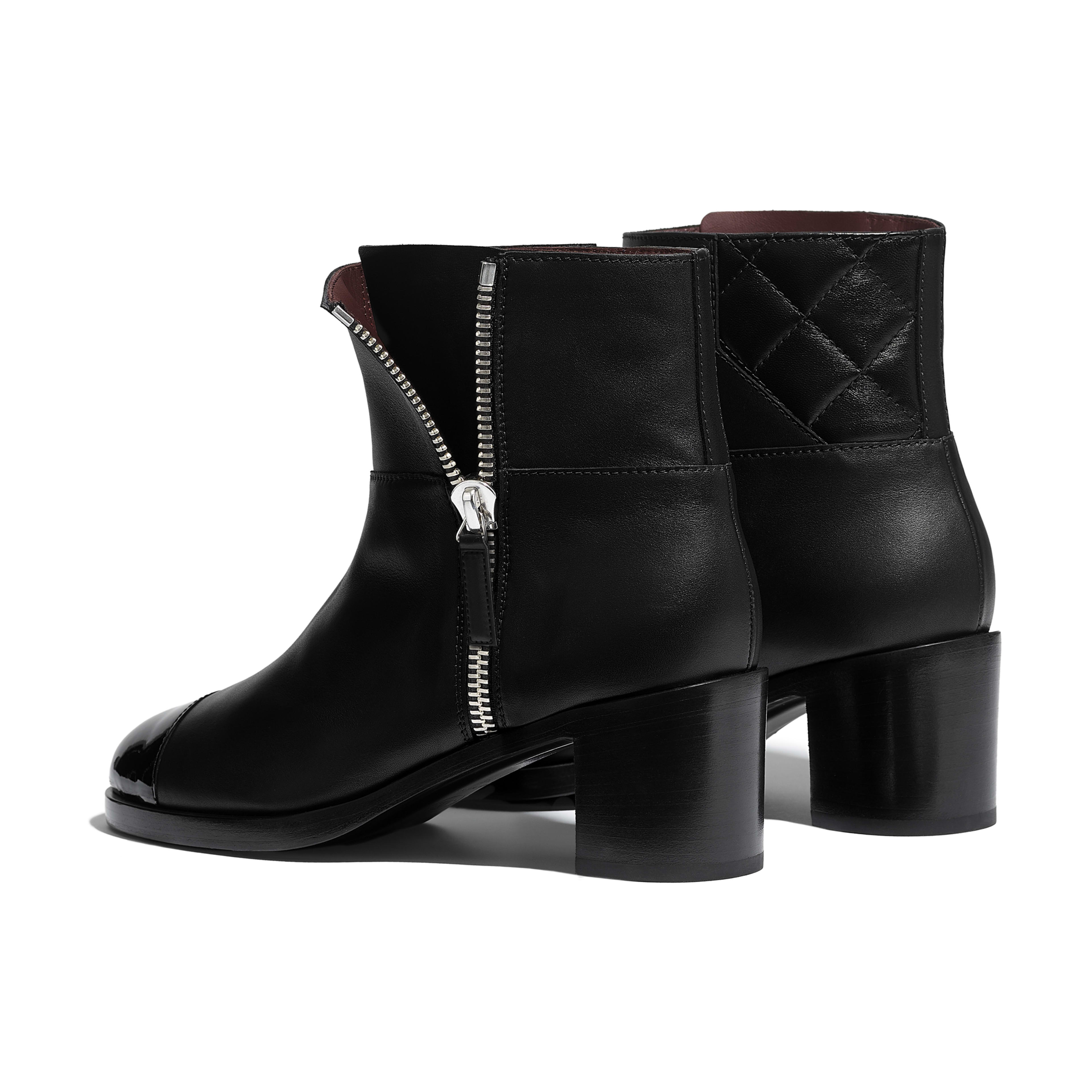 Ankle Boots - Black - Calfskin & Patent Calfskin - Other view - see full sized version