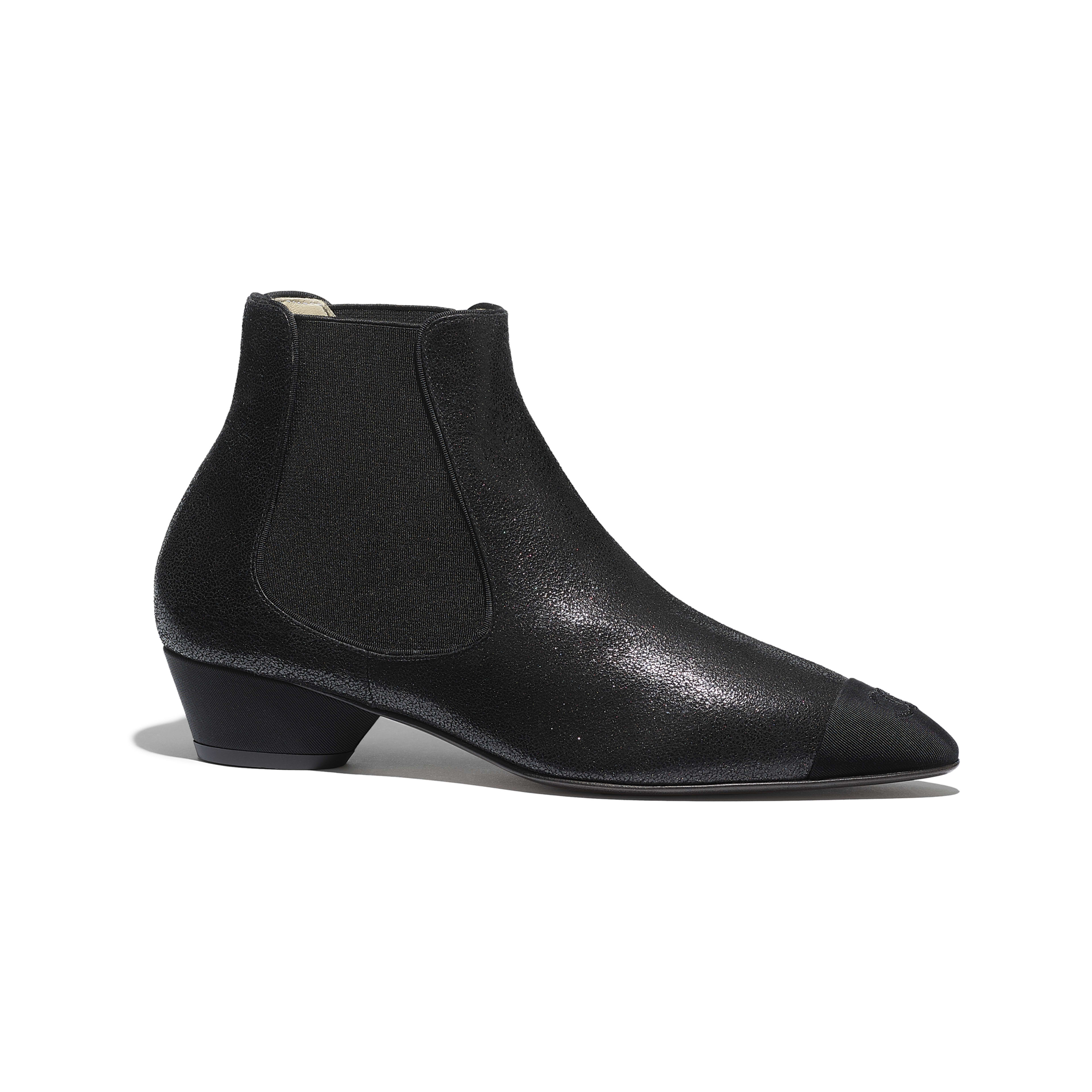 Ankle Boots - Black - Goatskin & Grosgrain - Default view - see full sized version