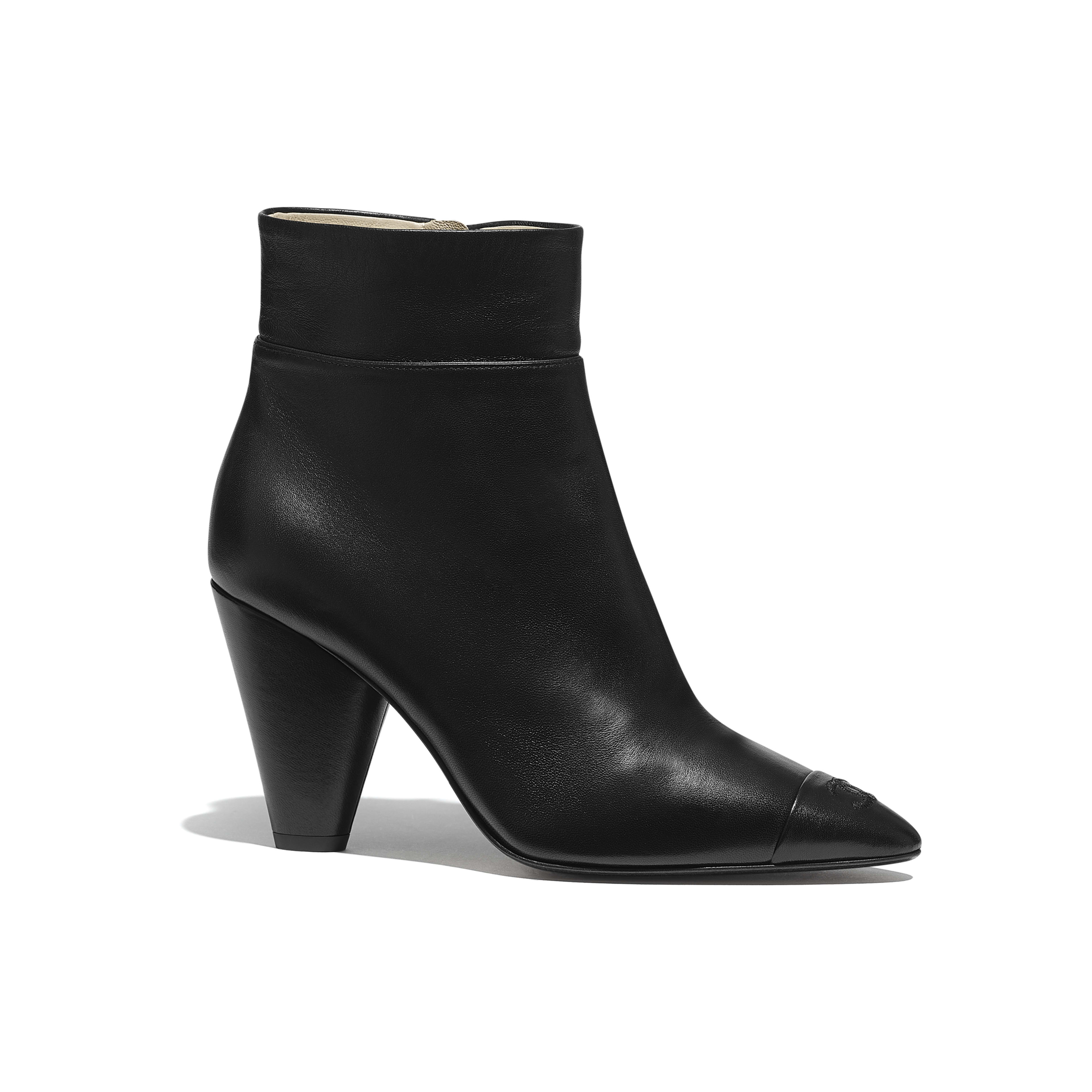 Ankle Boots - Black - Lambskin - Default view - see full sized version