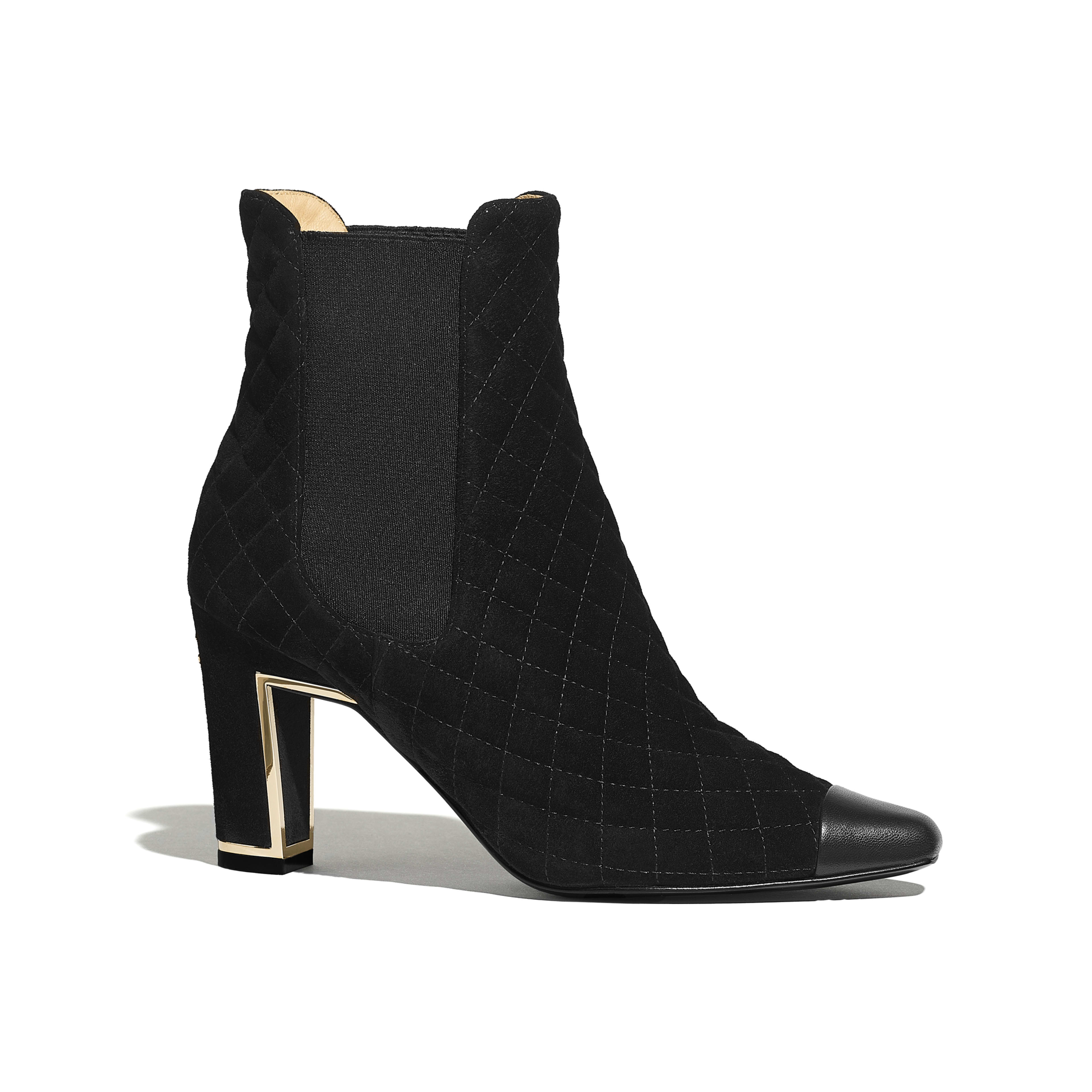 Ankle Boots - Black - Suede Calfskin & Lambskin - Default view - see full sized version