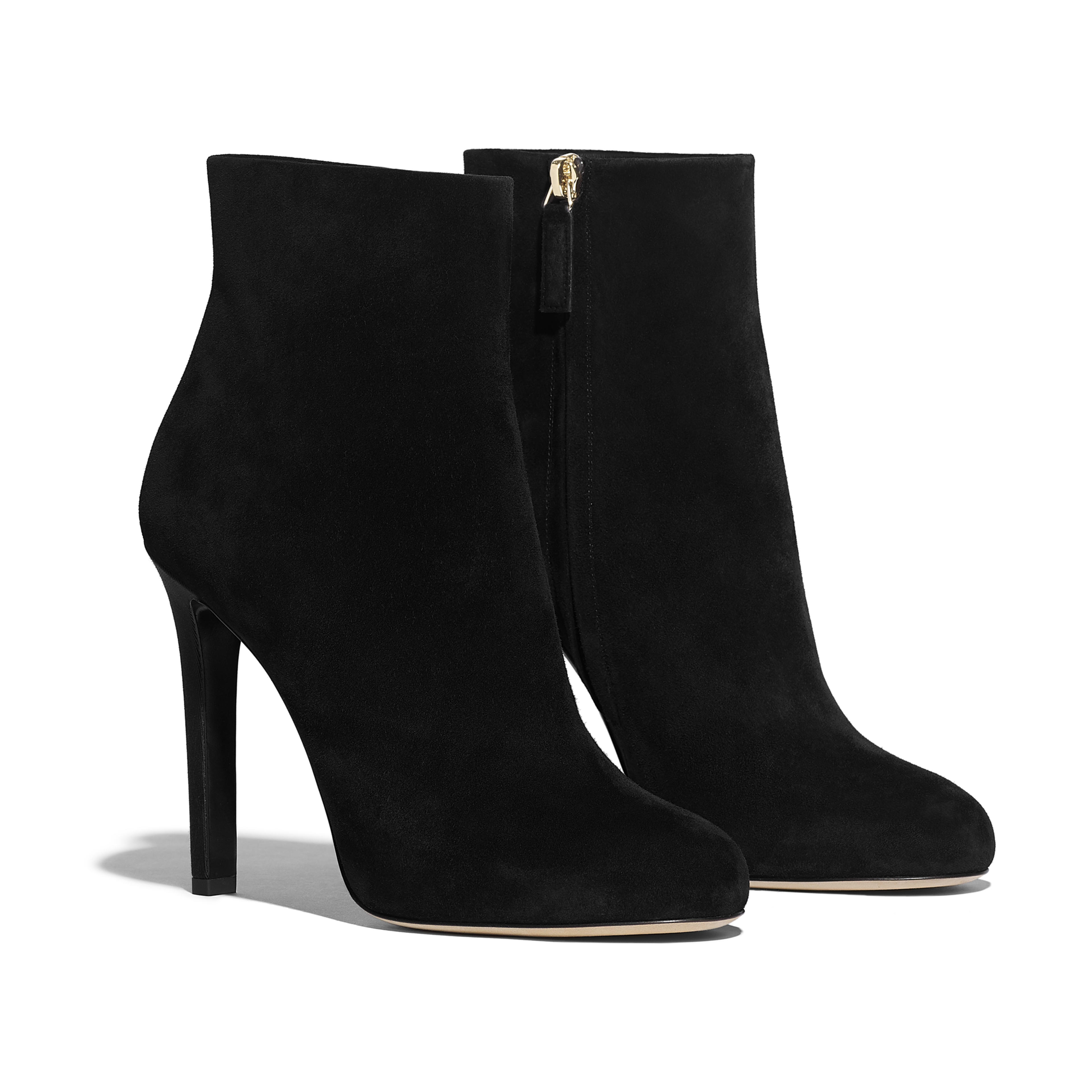 Ankle Boots - Black - Suede Calfskin - Alternative view - see full sized version