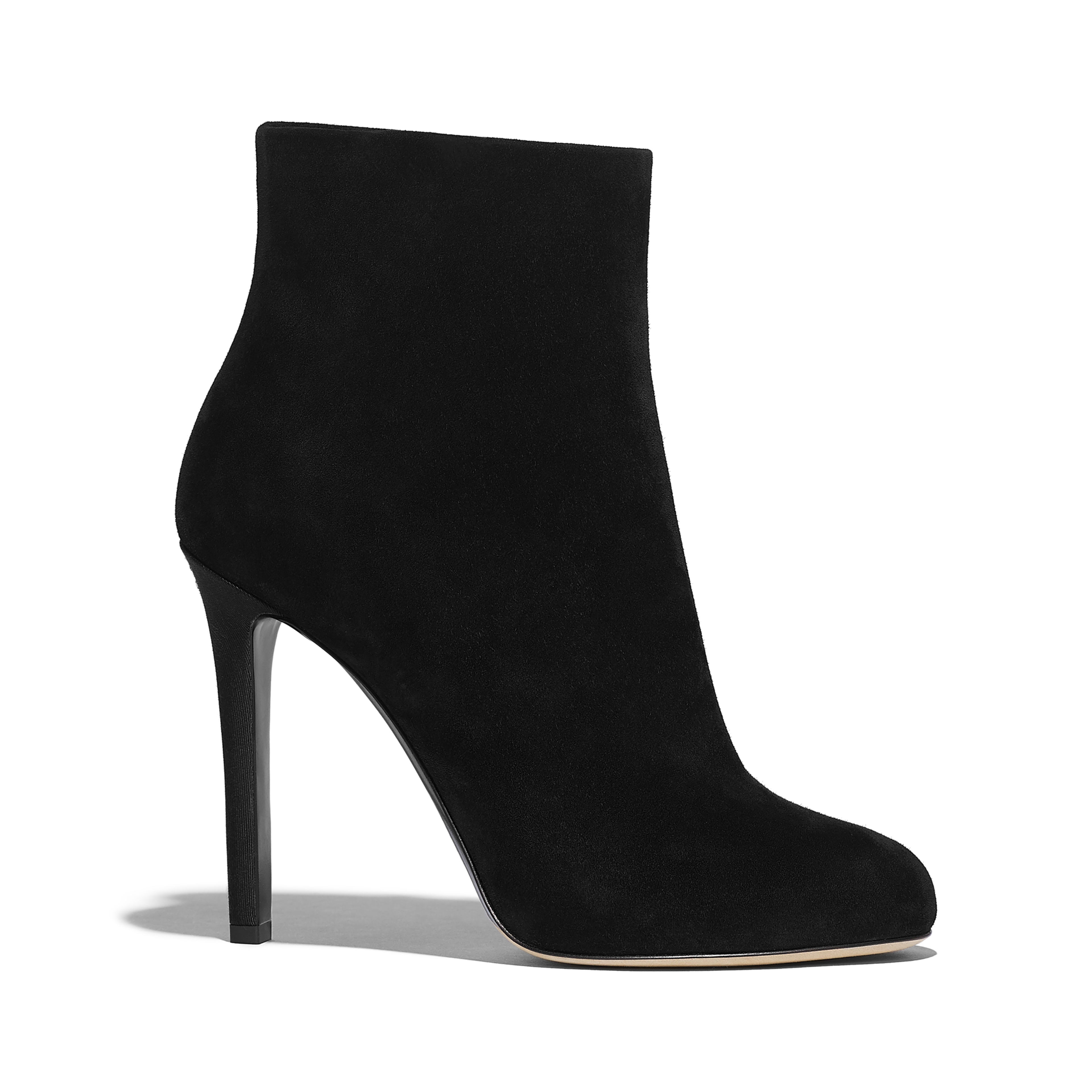 Ankle Boots - Black - Suede Calfskin - Default view - see full sized version