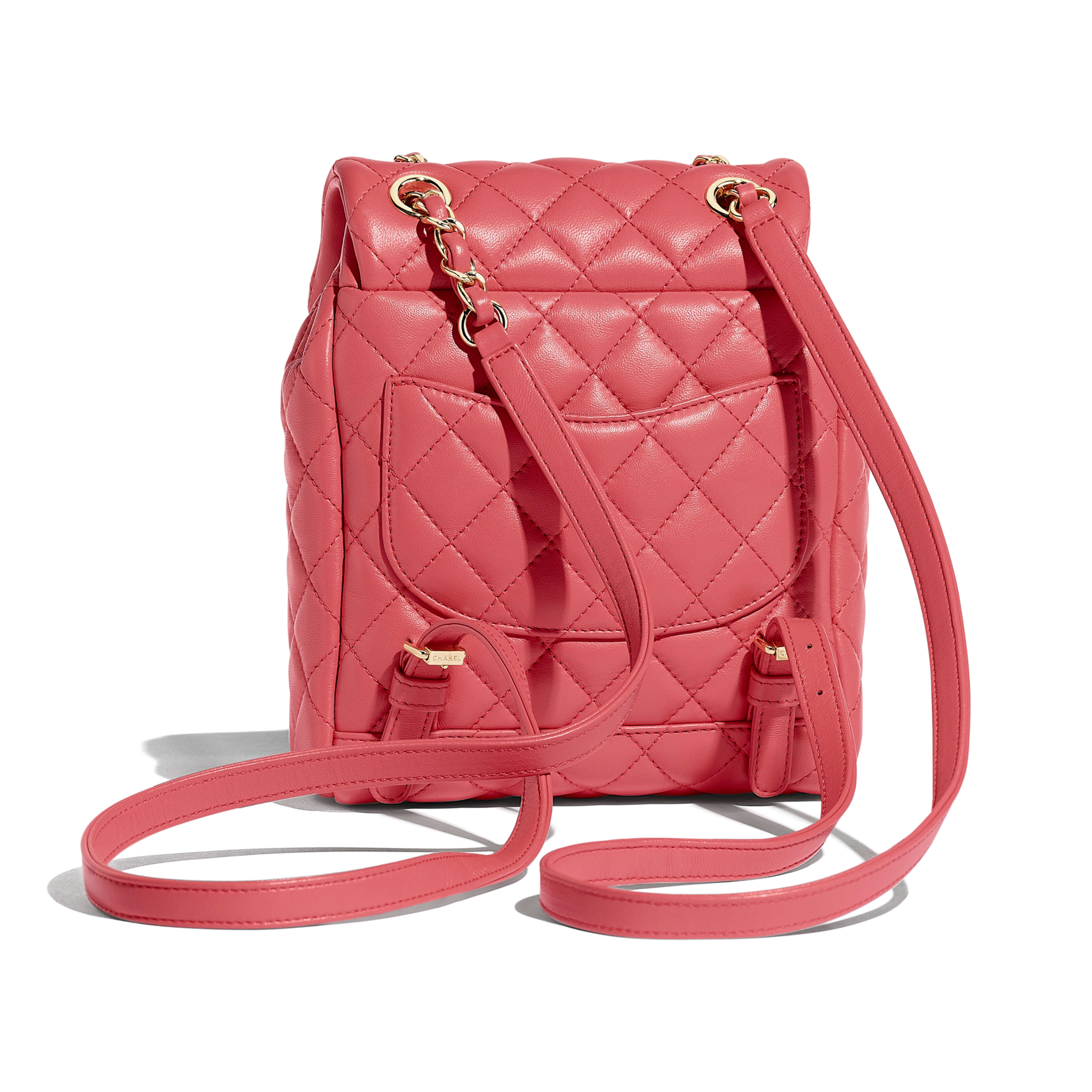 Backpack - Pink - Lambskin & Gold-Tone Metal - Alternative view - see full sized version