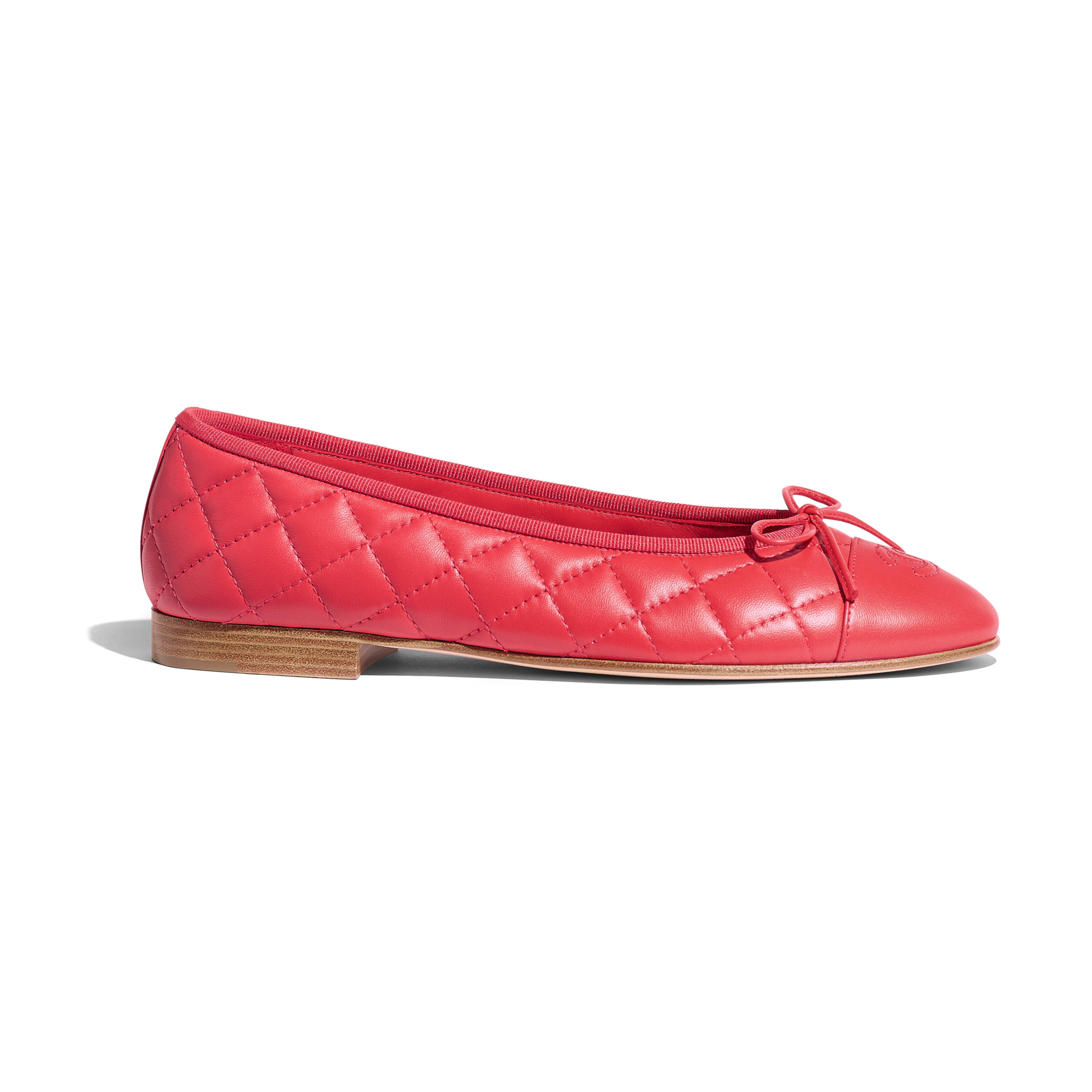 Ballerinas - Red - Lambskin - Default view - see full sized version