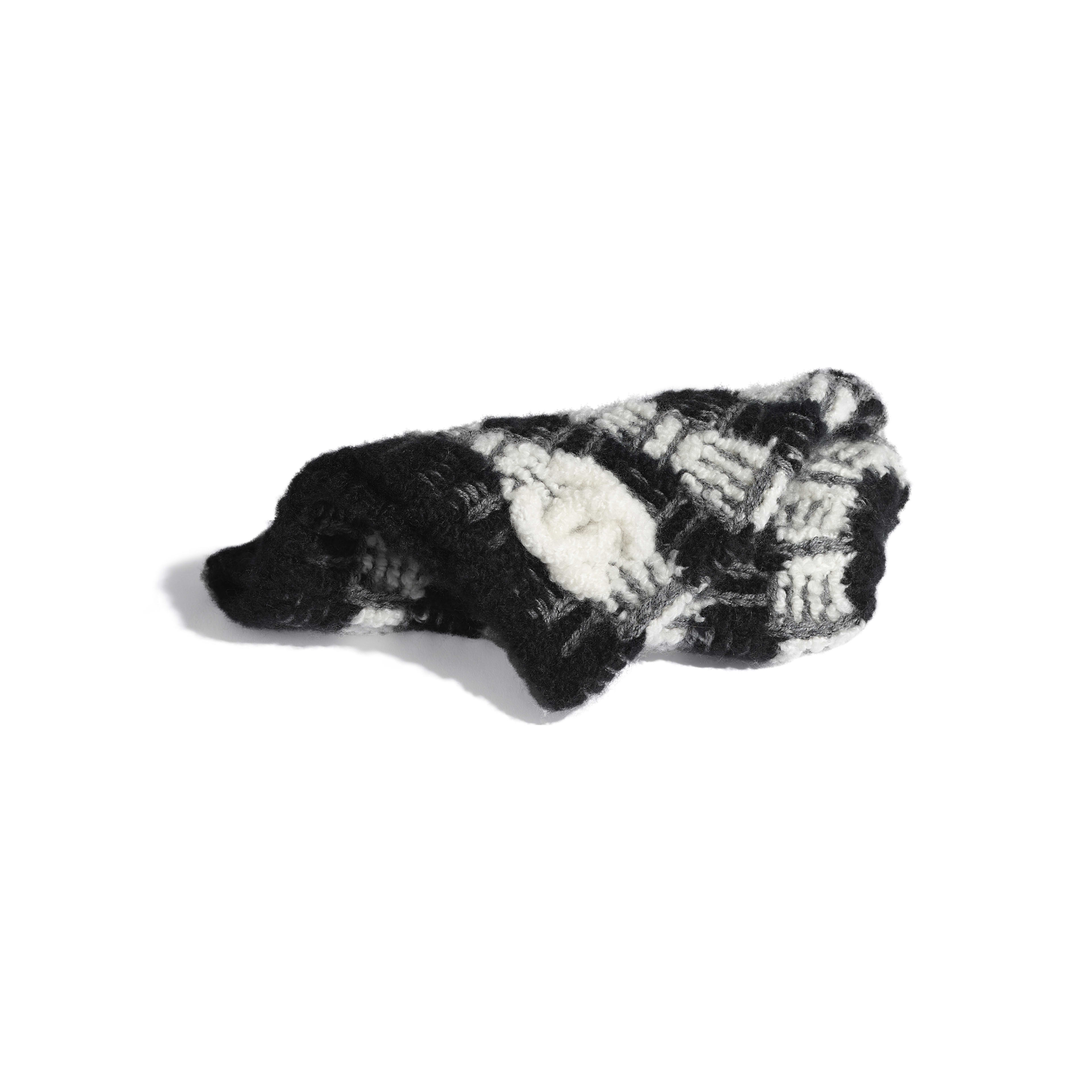 Beanie - Black & Gray - Cashmere - Alternative view - see full sized version